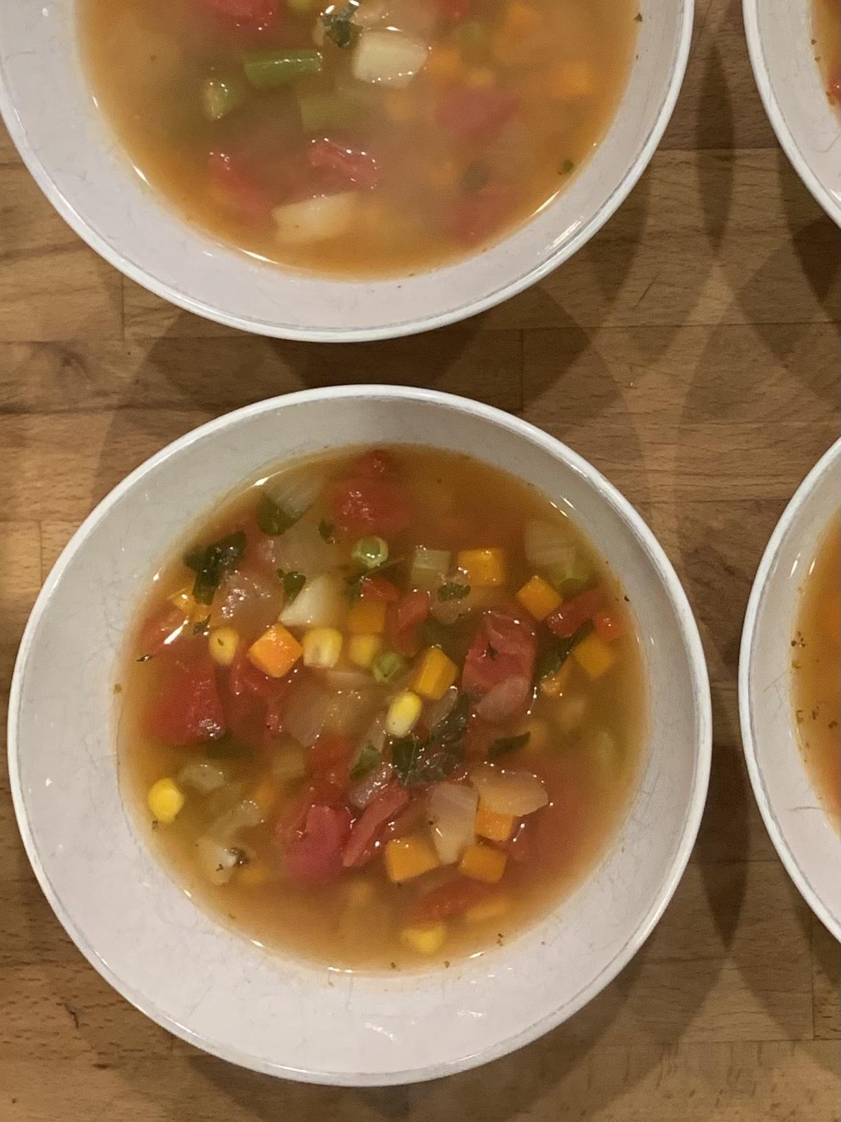 Instant Pot® Frozen Vegetable Soup FrackFamily5 CA—>CT