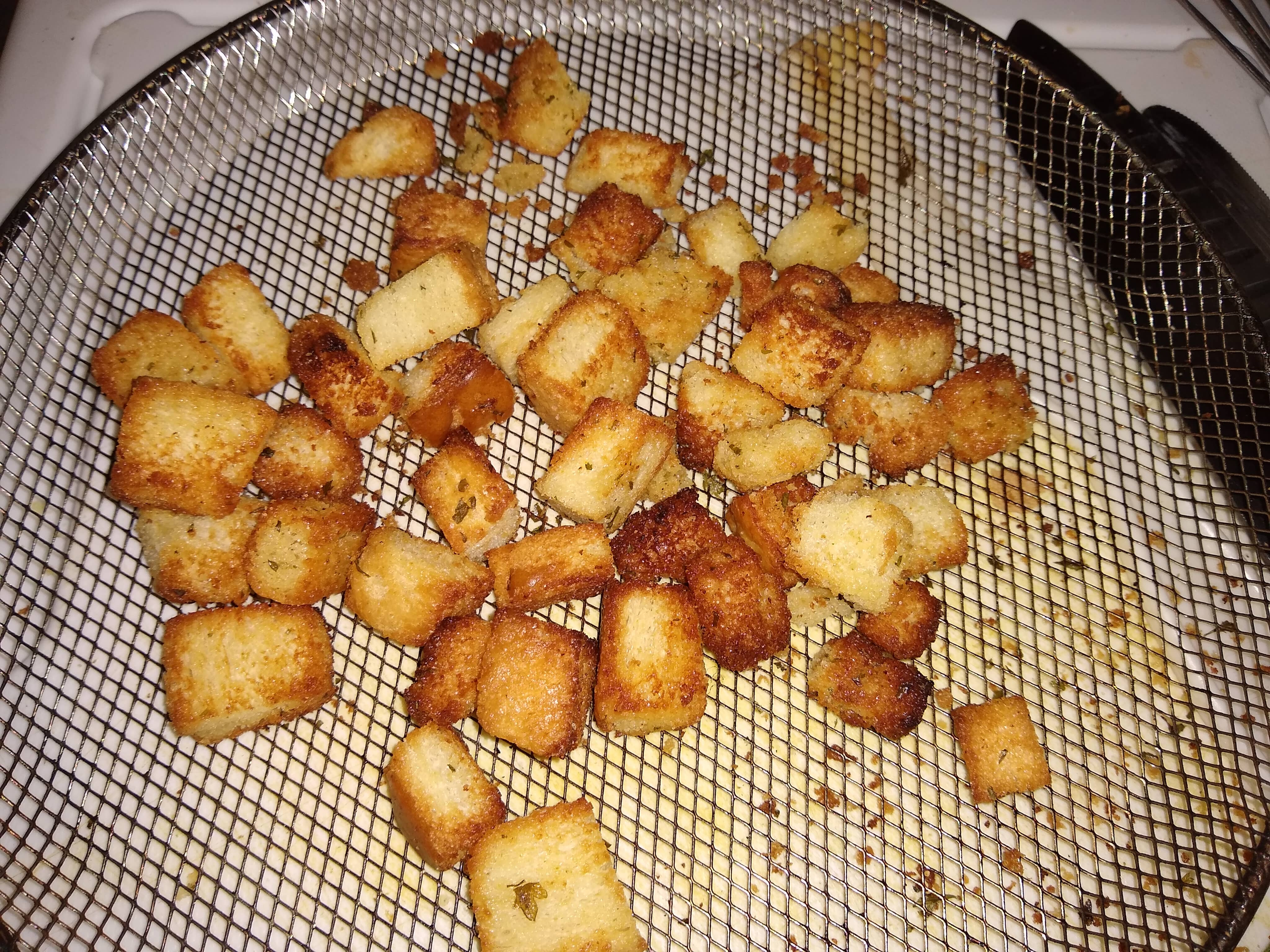 Homemade Croutons in the Air Fryer Wanna Be Chef