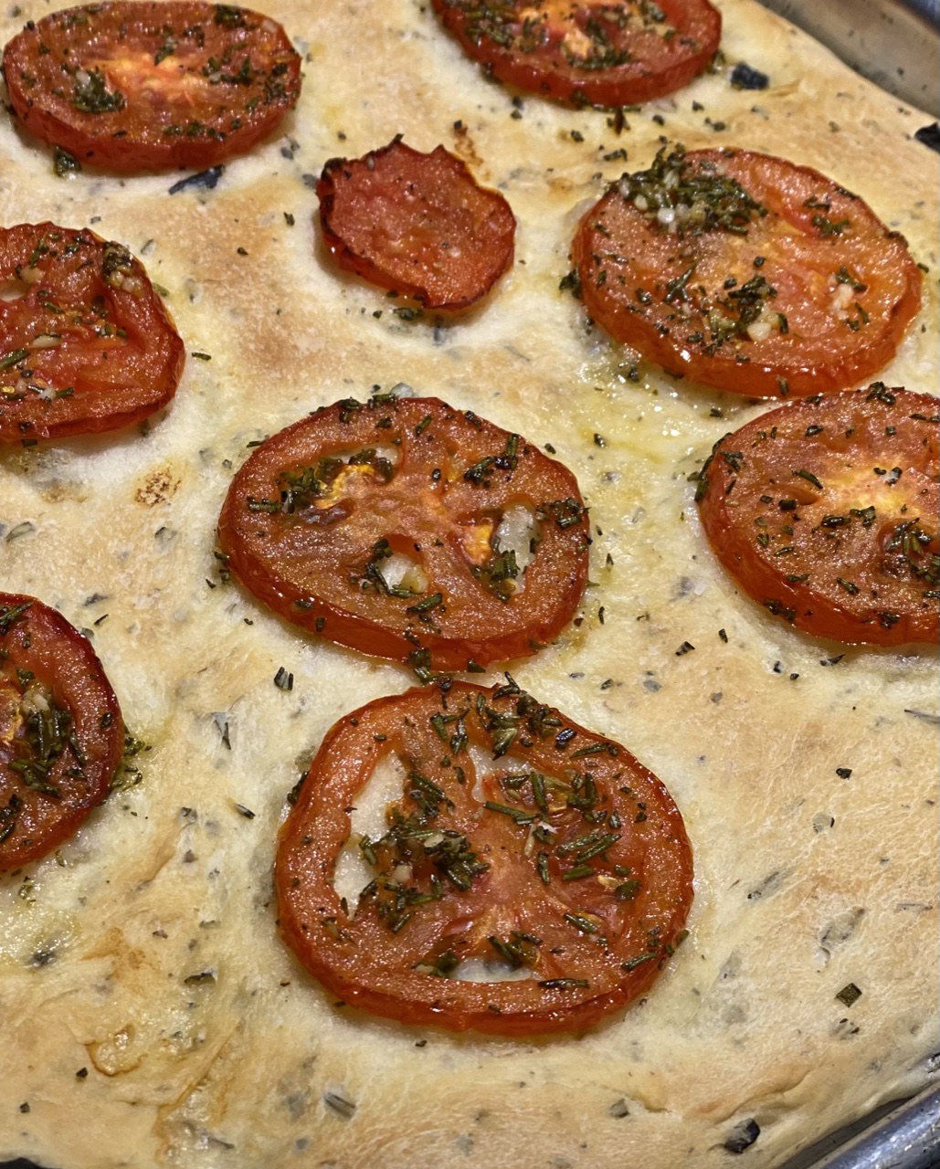 Black Olive and Rosemary Focaccia Howard