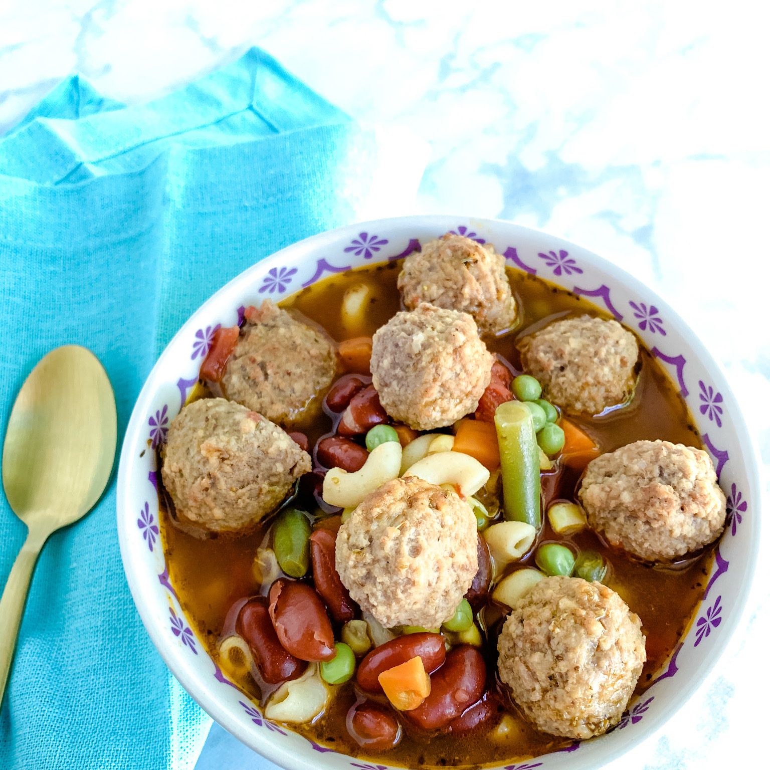 Mindless Meatball Minestrone