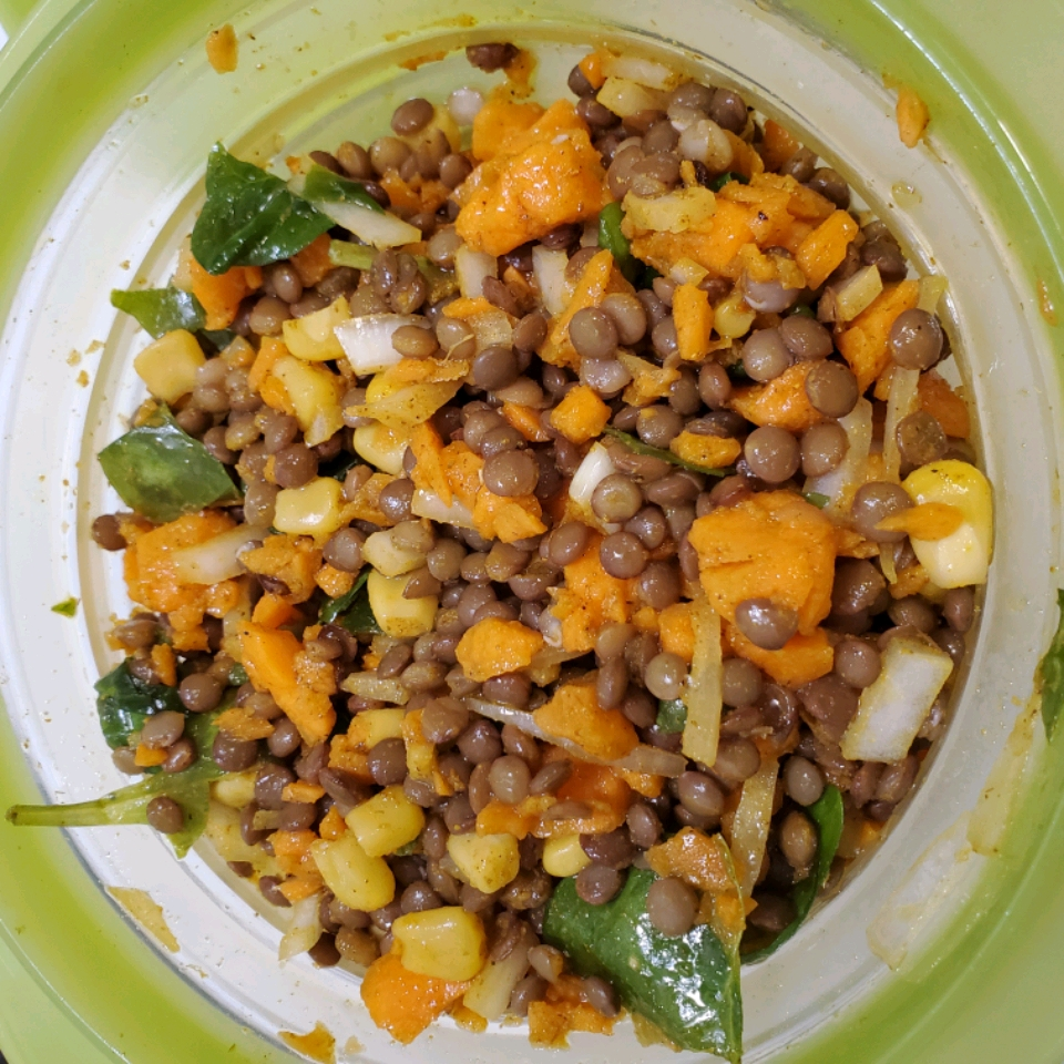 Curried Lentil Salad Suzanne L