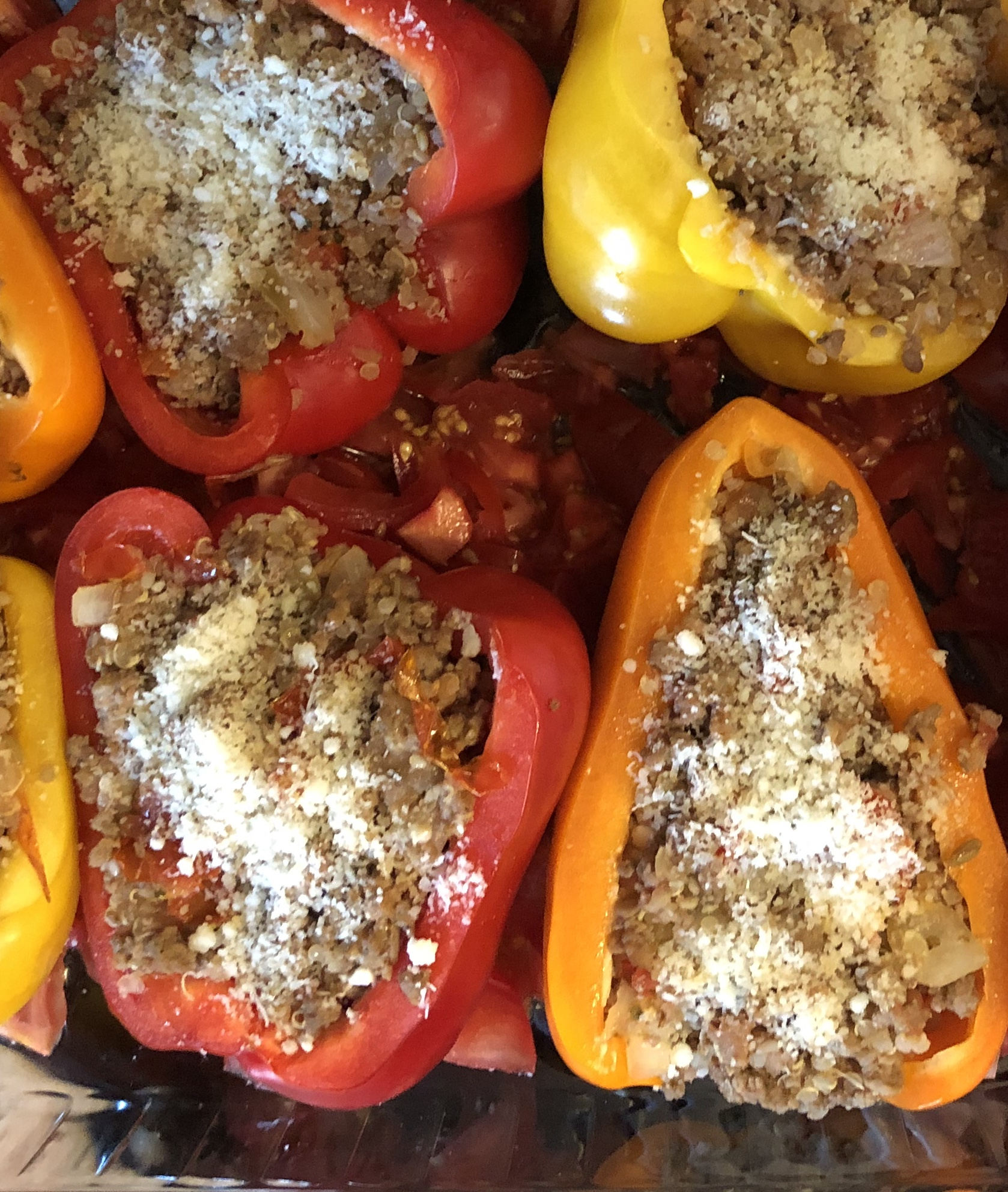 Low-Carb Stuffed Peppers Lyn Mary