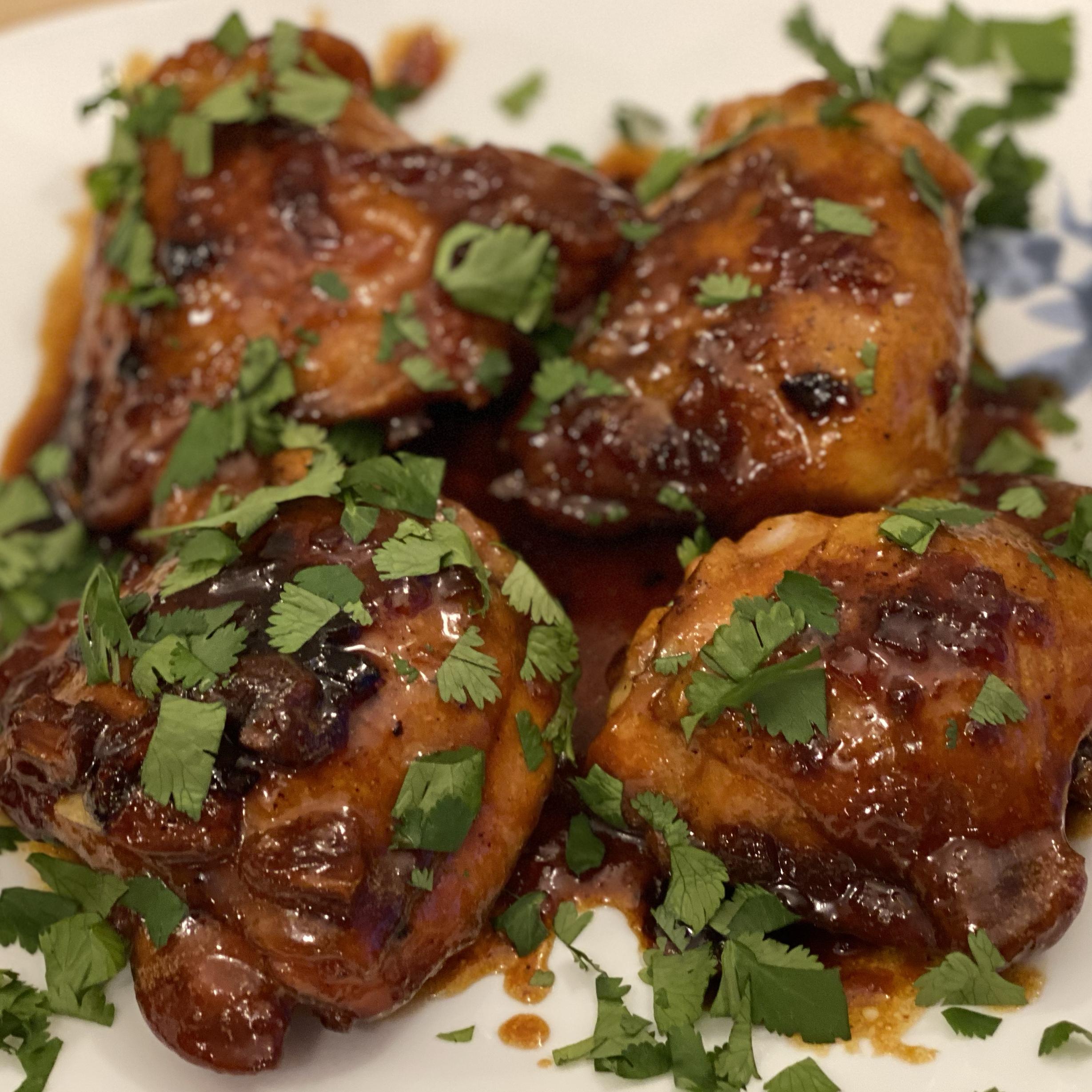 Honey-Garlic Chicken Thighs Scott Tallam