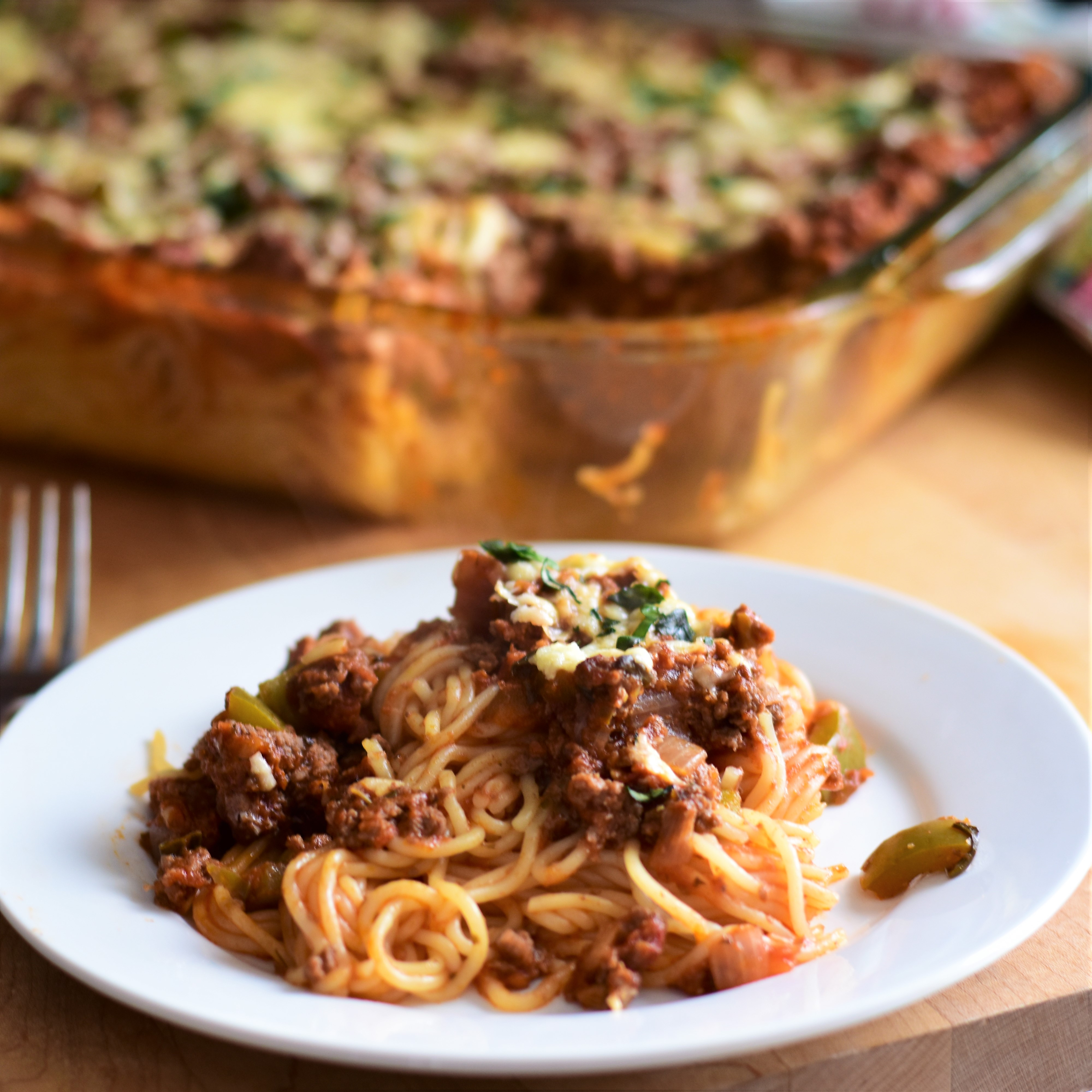 Baked Spaghetti with Venison