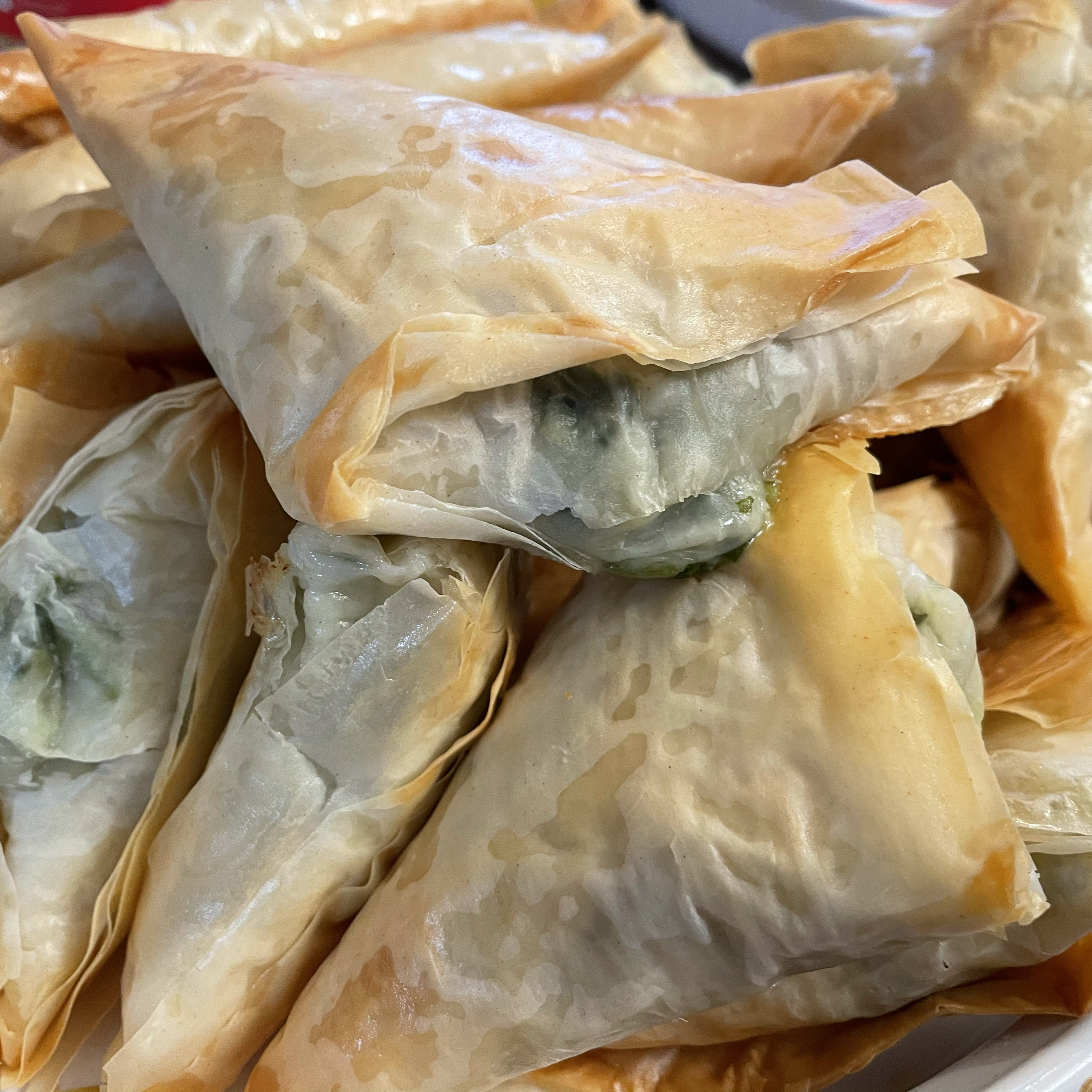 Make-Ahead Spinach Phyllo Roll-Ups from PHILADELPHIA® Teresa Wilson