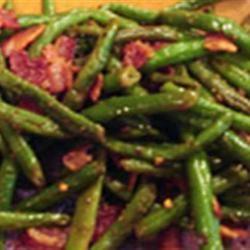 Green Bean and Bacon Saute scubadiva