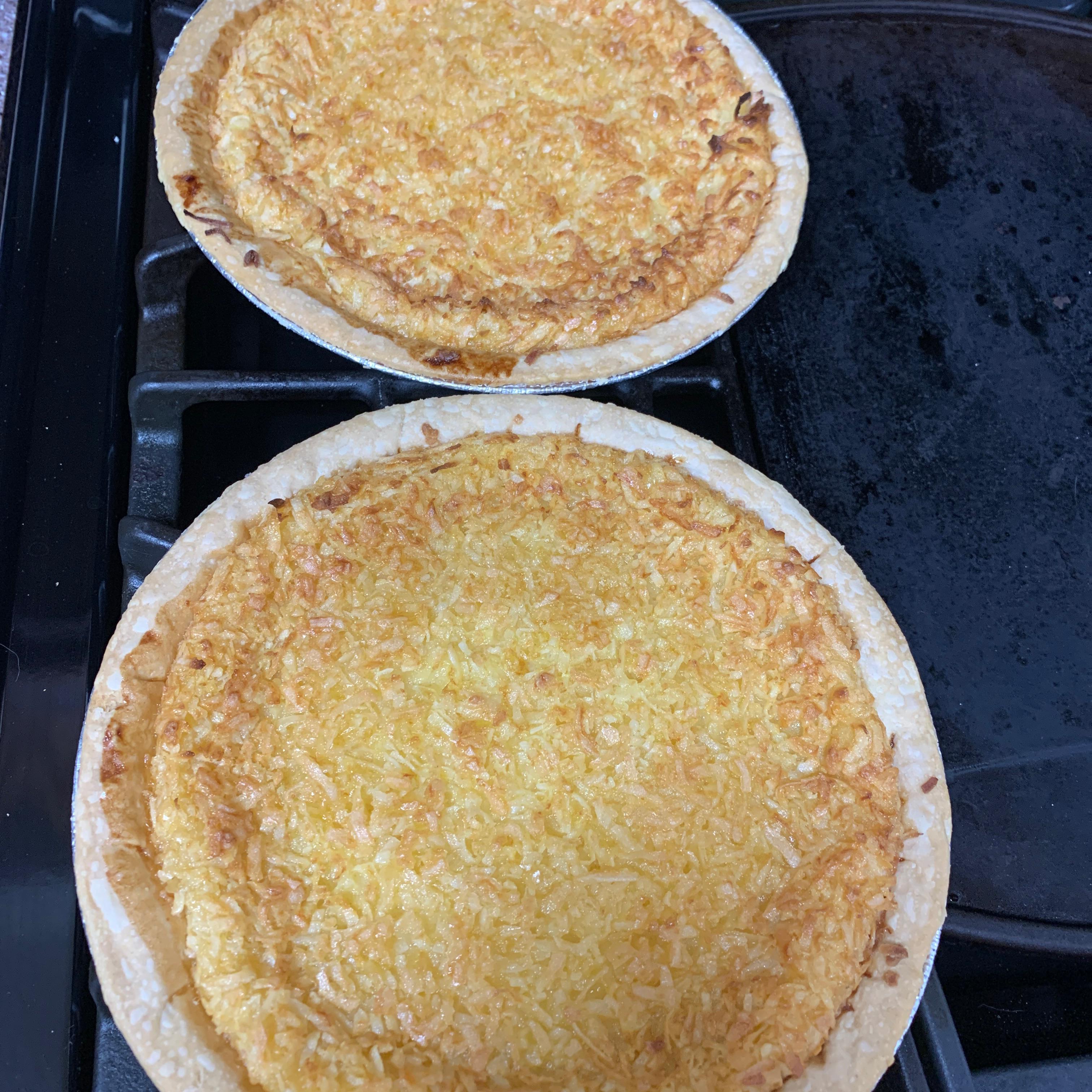 Lauriee's Coconut Custard Pie Nates meals