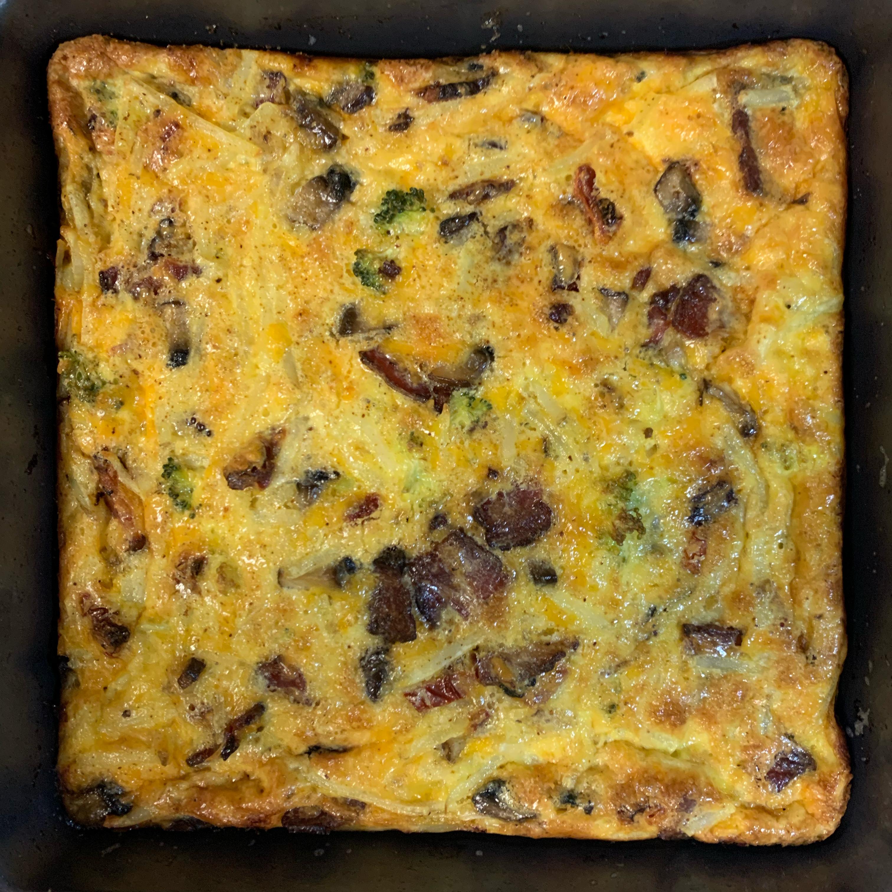 Cheesy Hash Browns Quiche