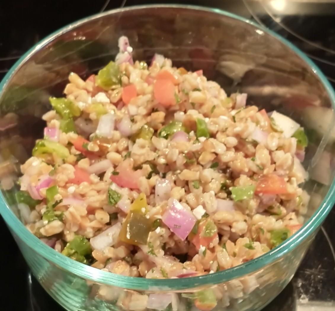 Mediterranean Farro Salad Shawn