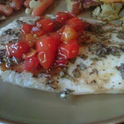 Baked Snapper with Chilies, Ginger and Basil