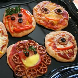 Creepy Mini Pizzas Jennifer Baker
