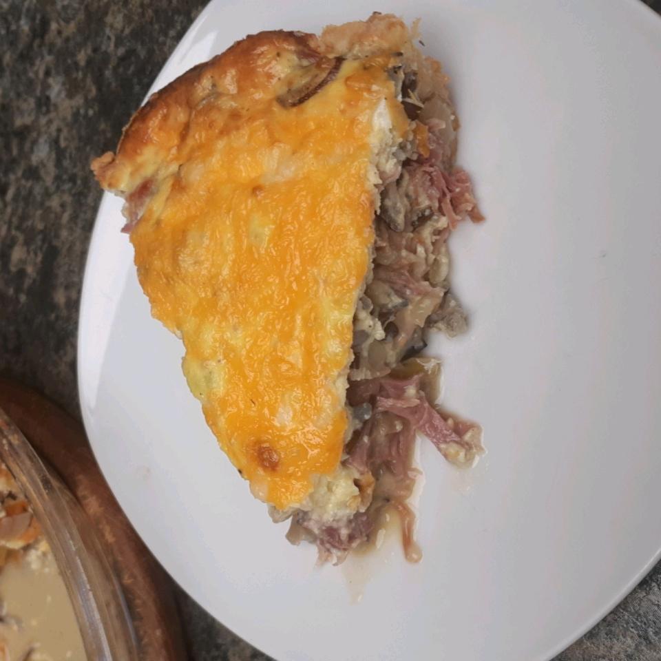 Ham and Wild Rice Quiche