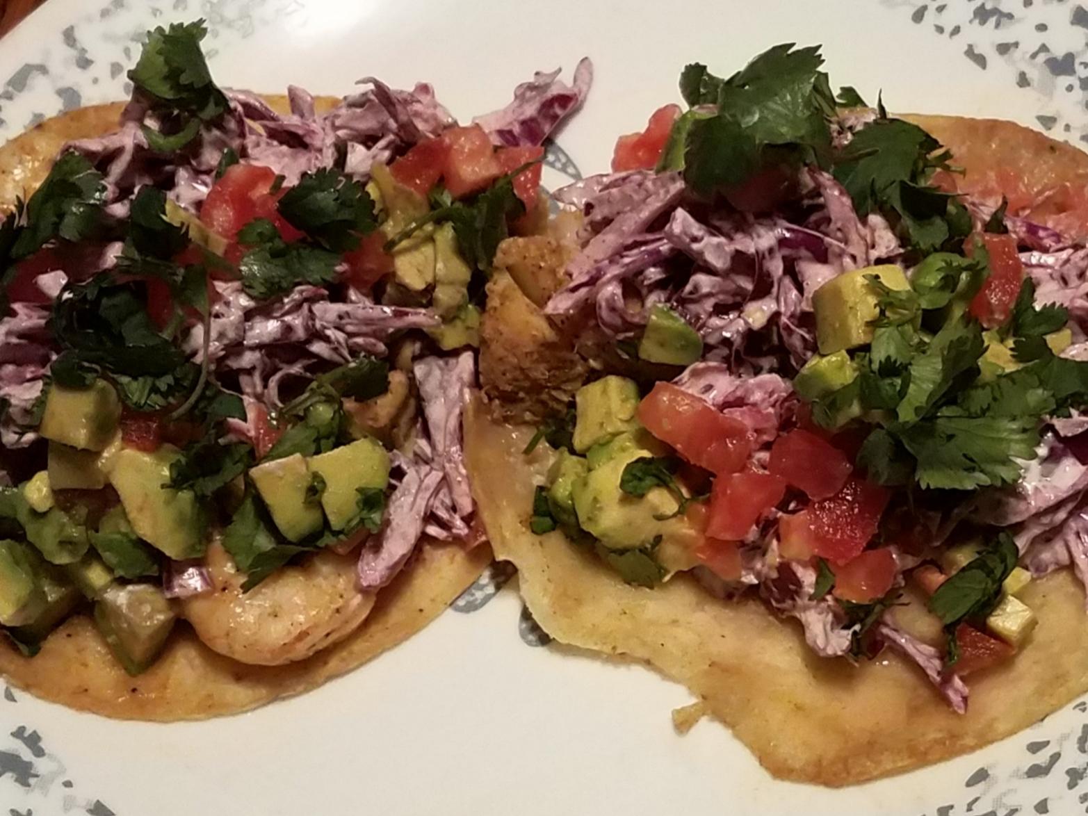 Grilled Fish Tacos with Creamy Cilantro Coleslaw image