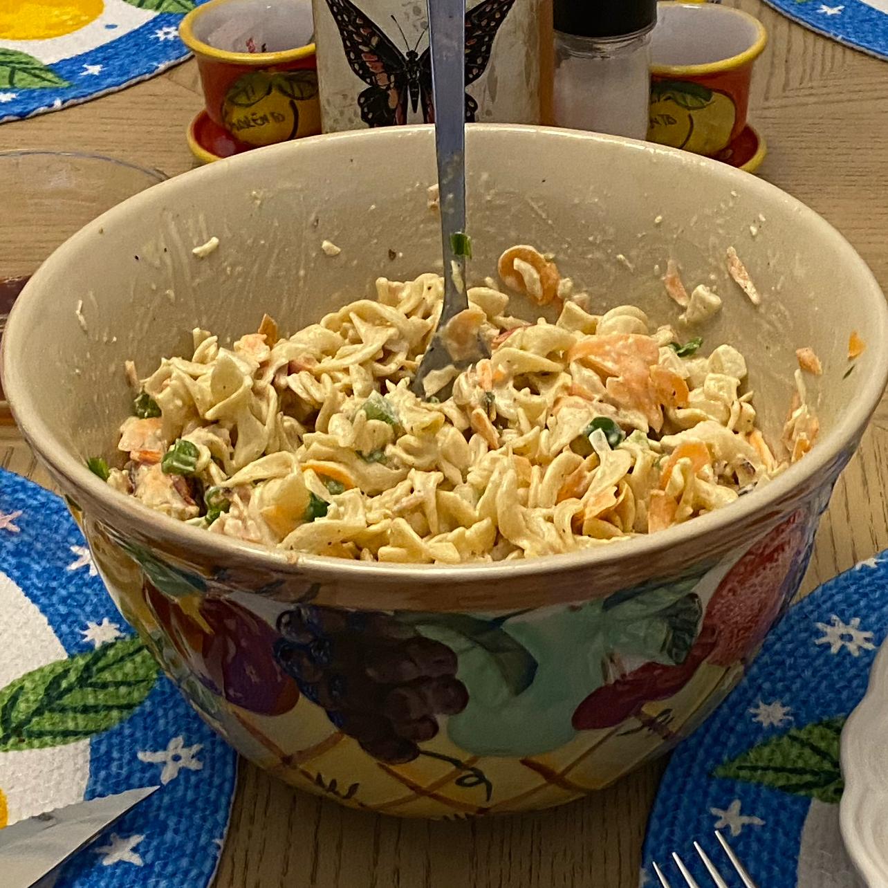 Deviled Egg Noodle Salad Russ