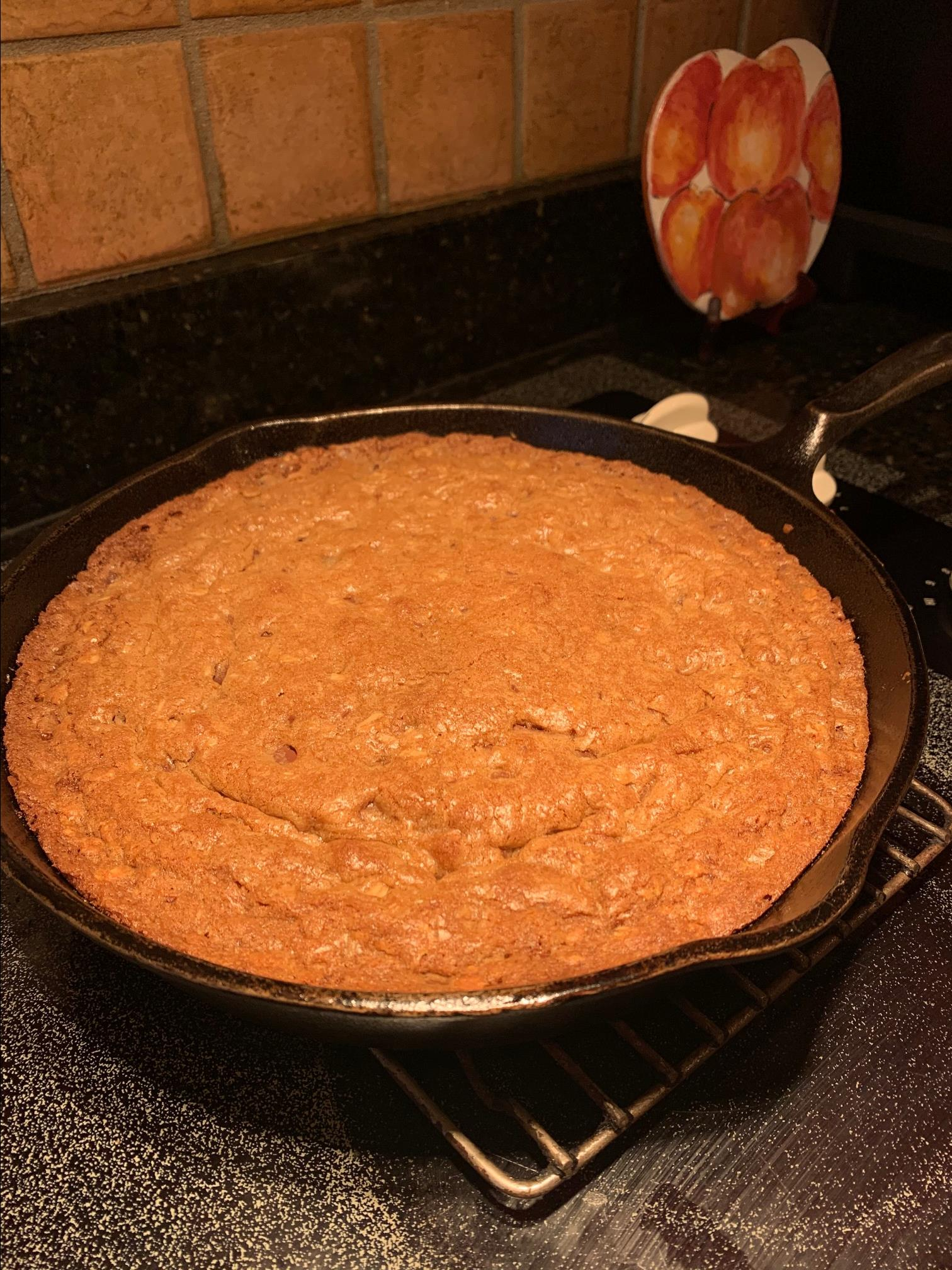 Loaded Chocolate Chip Skillet Cookie gloria