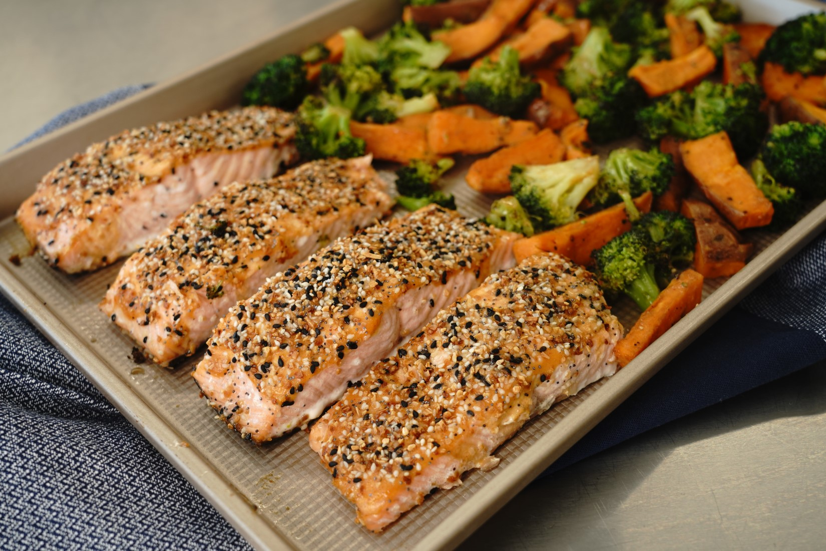 Everything Salmon Sheet Pan Dinner AllrecipesPhoto