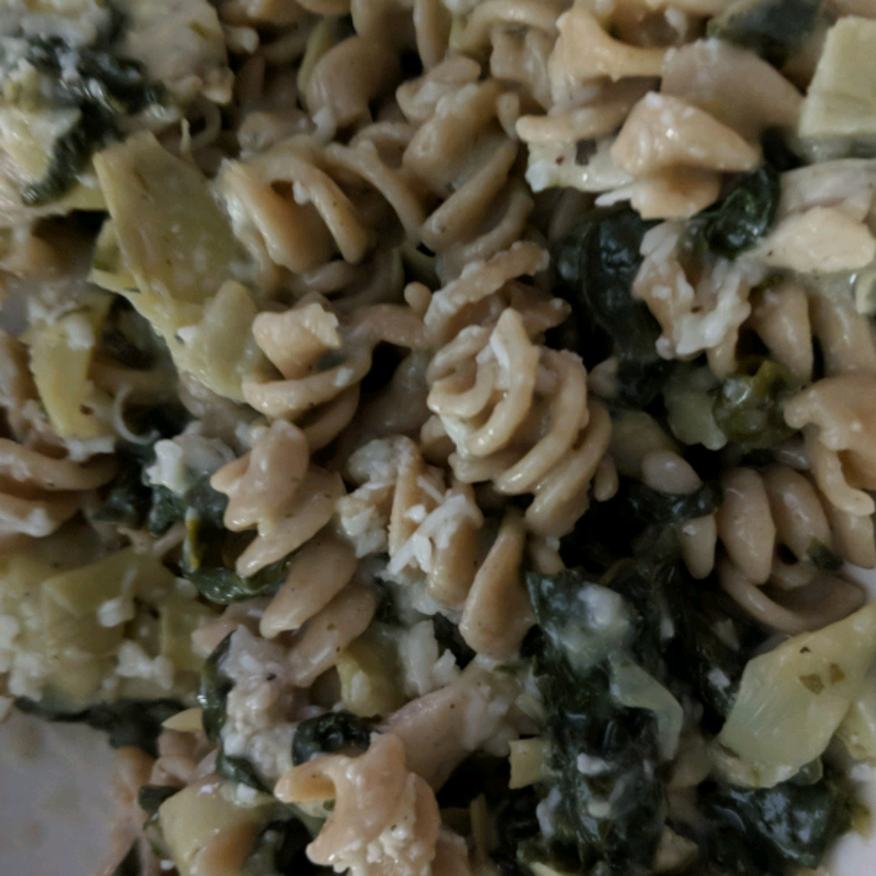 Chicken Pasta with Artichoke Hearts Rebekah Hickey
