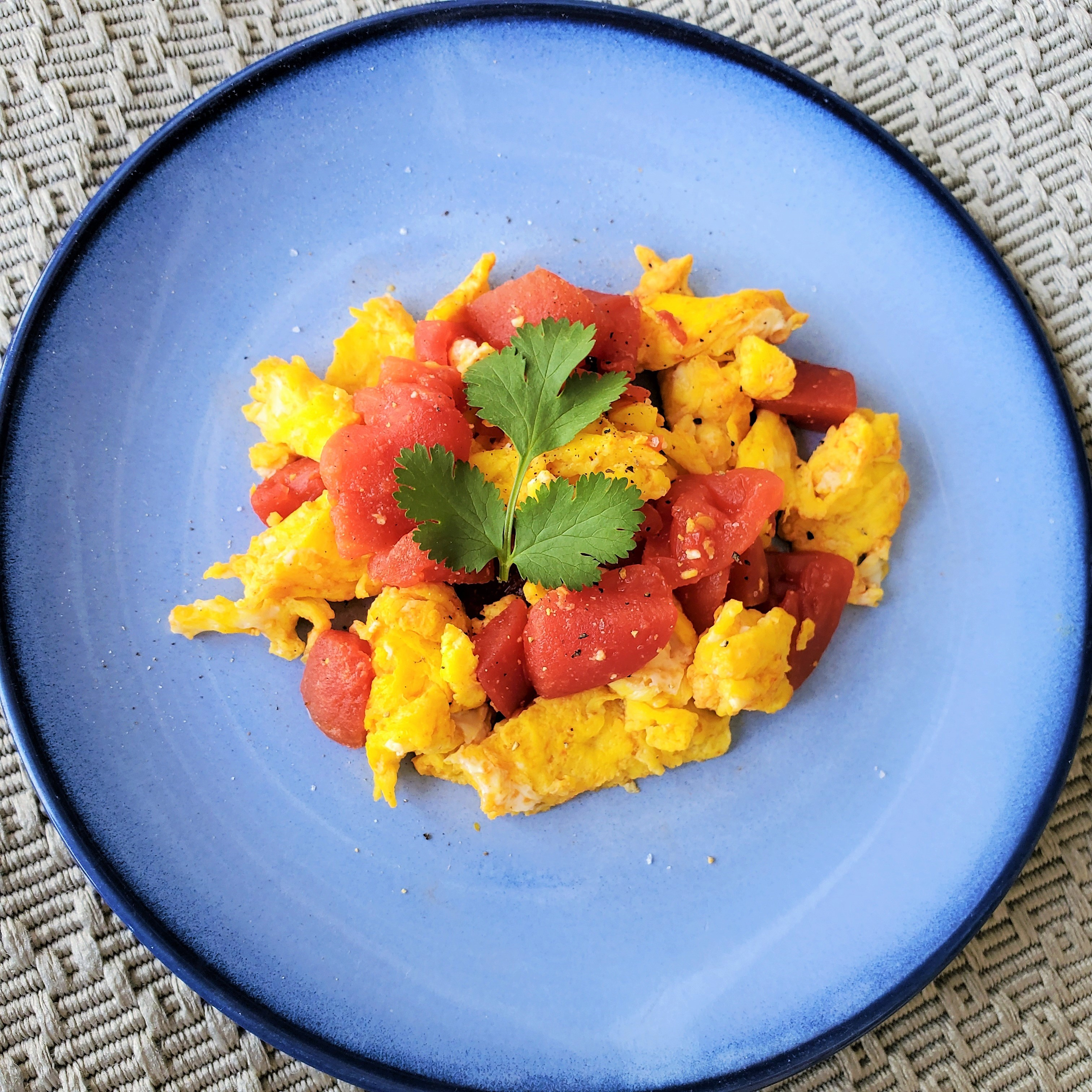Scrambled Eggs and Tomatoes