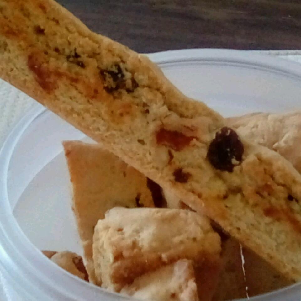 Easy Walnut Raisin Biscotti rosiecummings