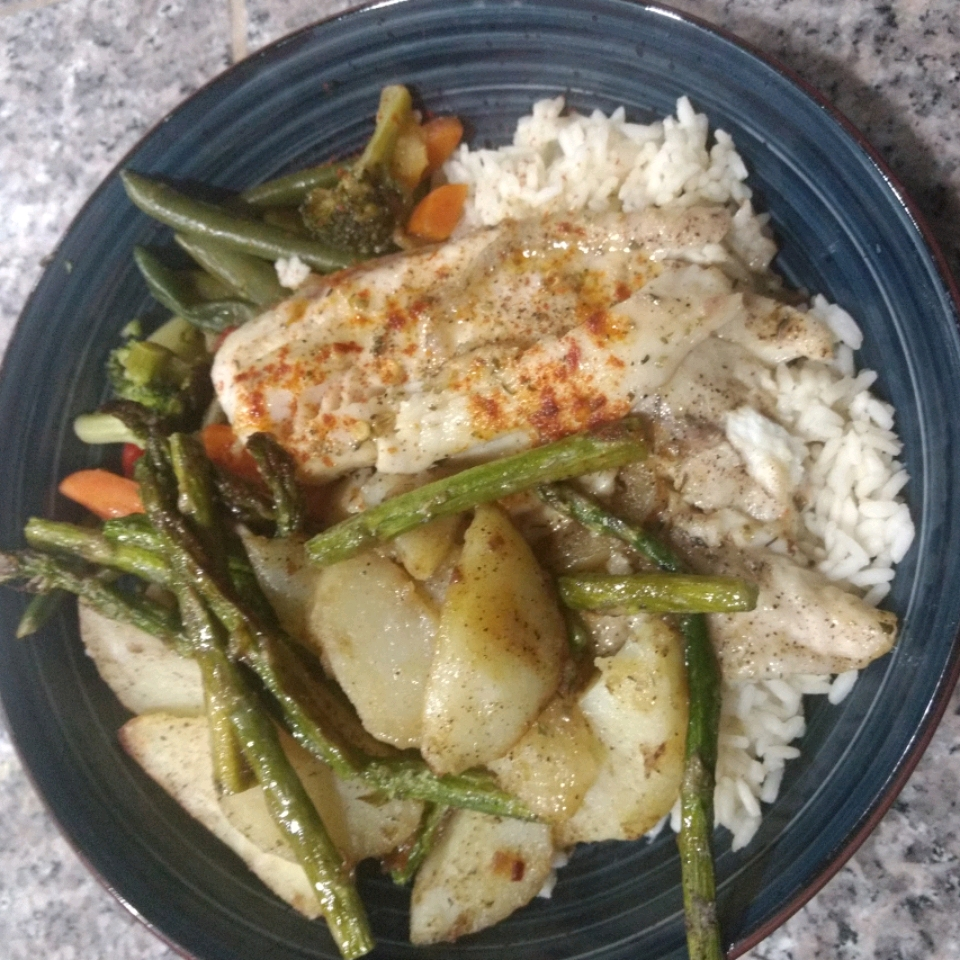 Broiled Sweet and Tangy Tilapia KLouthan