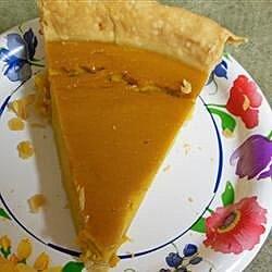 grandmas sweet hubbard squash custard pie recipe