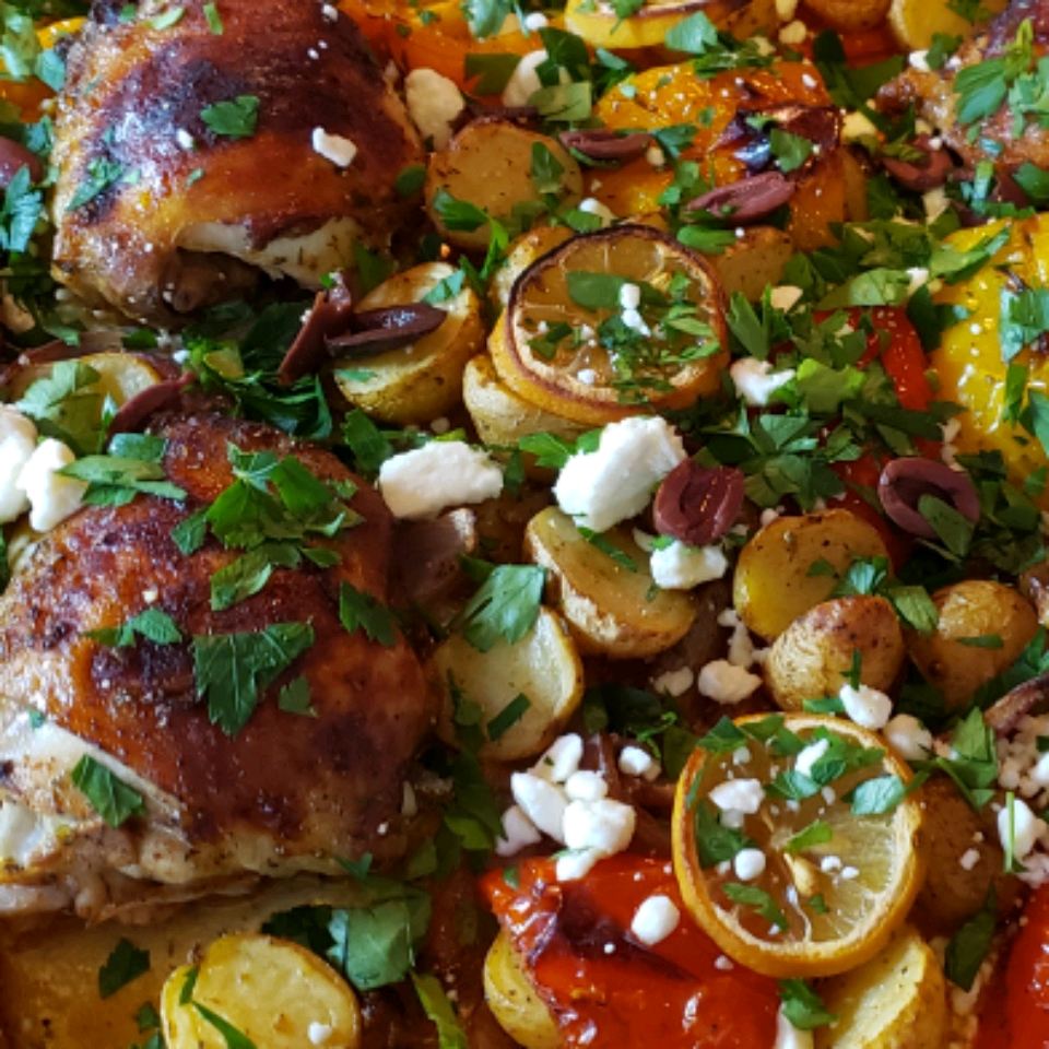 Mediterranean Chicken Sheet Pan Dinner Lisa Bristol