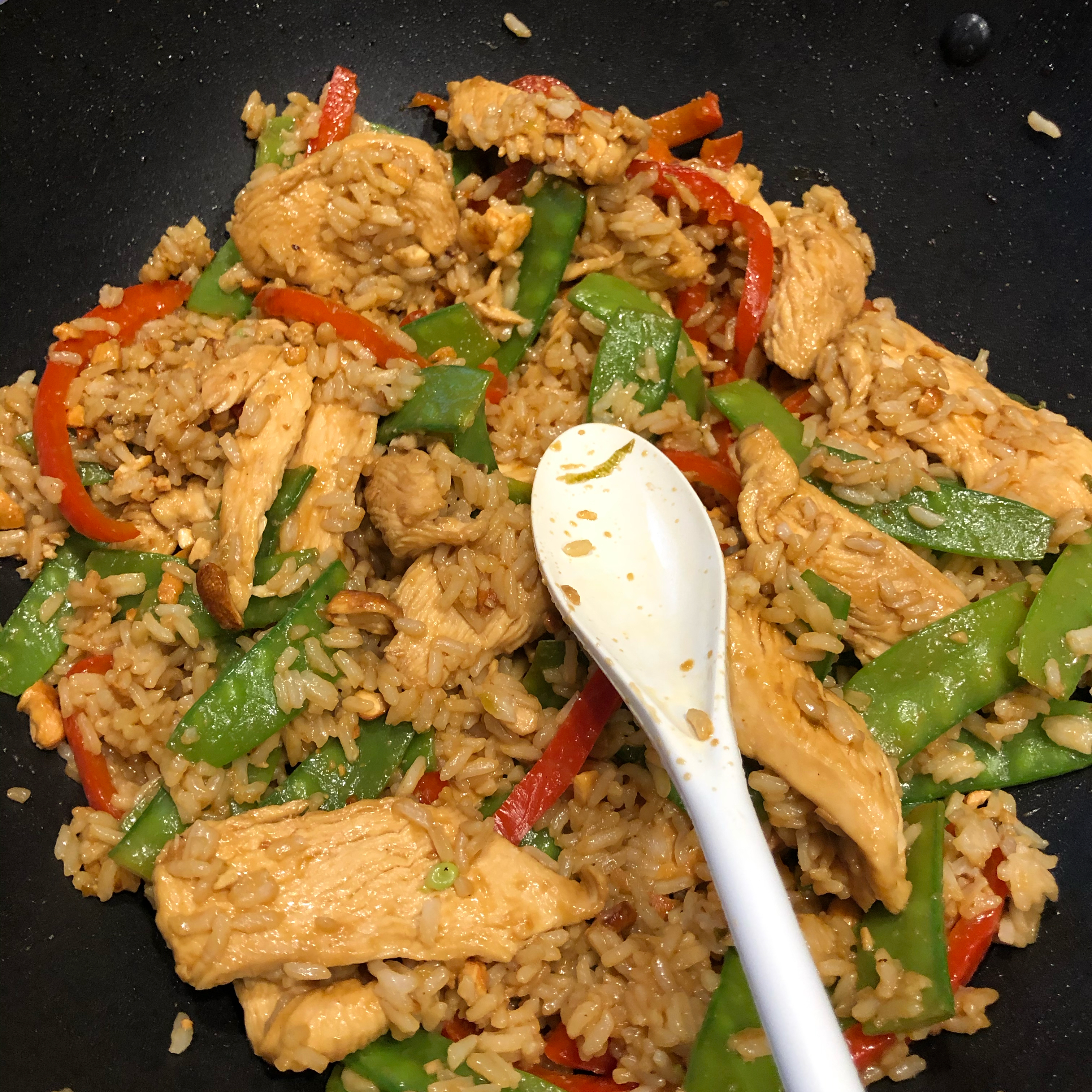 Chicken, Snow Pea, and Cashew Fried Rice toberich7272