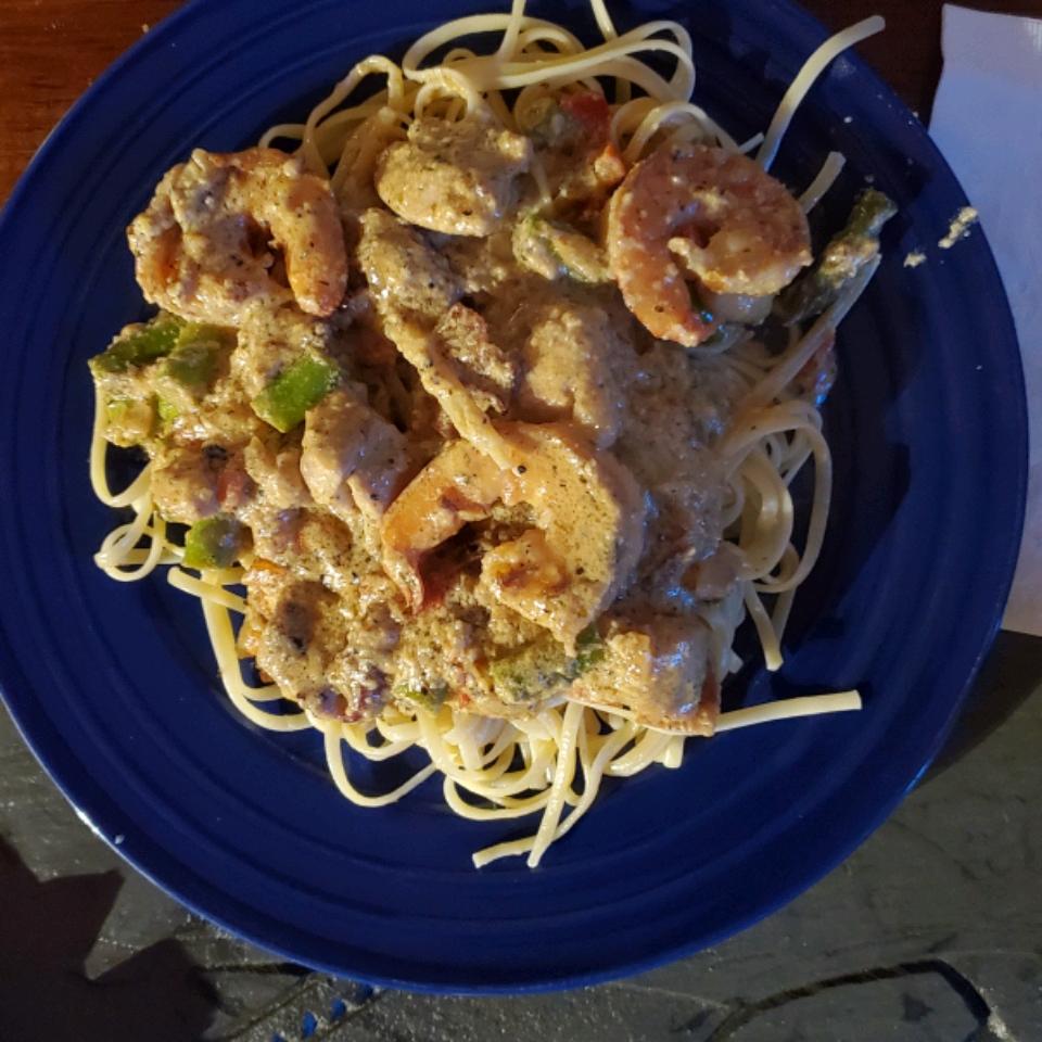 Chicken and Shrimp Carbonara