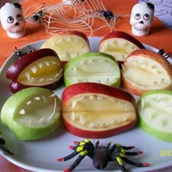 Halloween Fruit Apple Teeth Treats Montana
