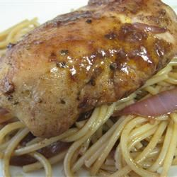 Chicken and Red Wine Sauce