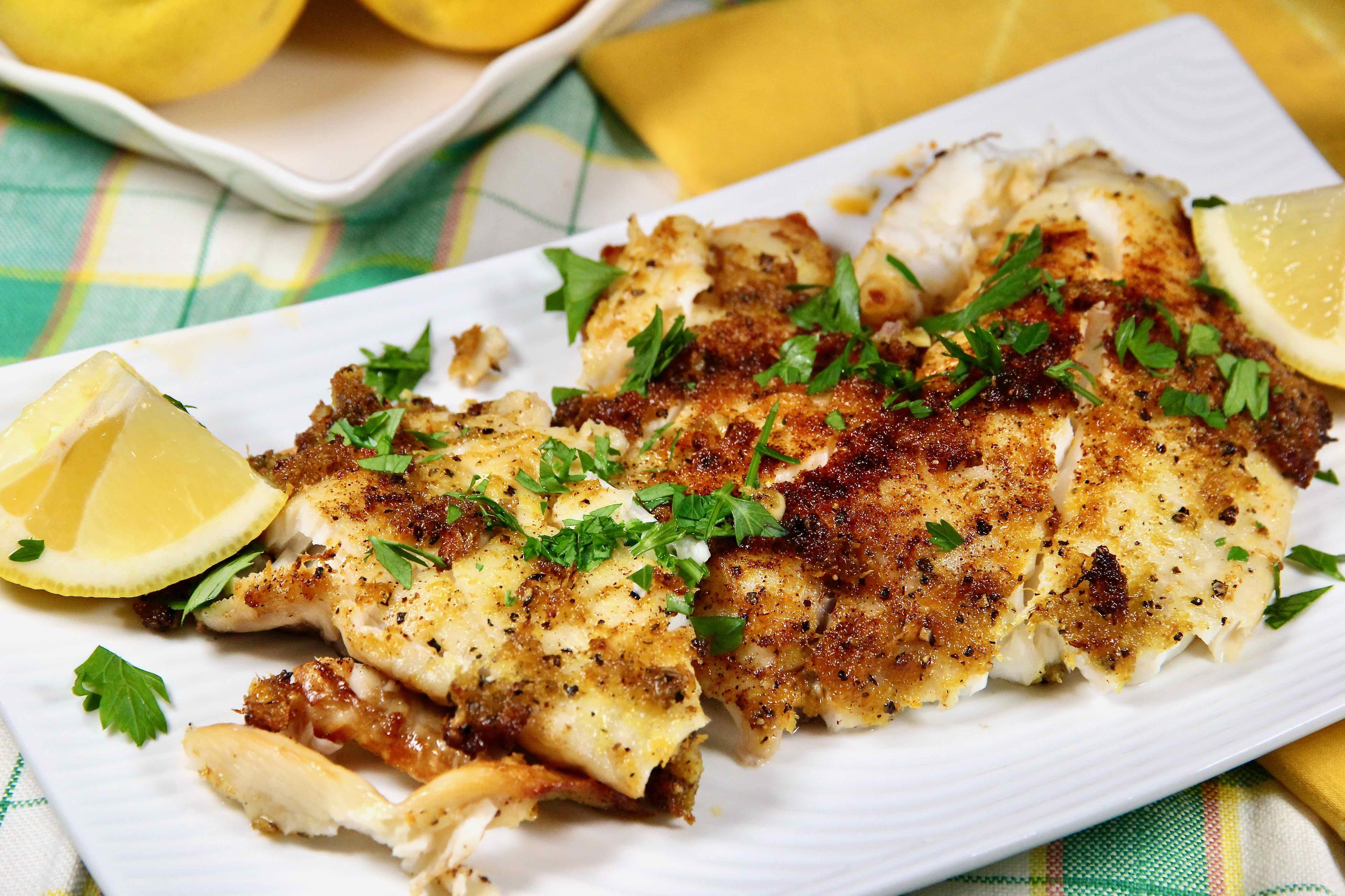 Air Fryer Tilapia with Fresh Lemon Pepper