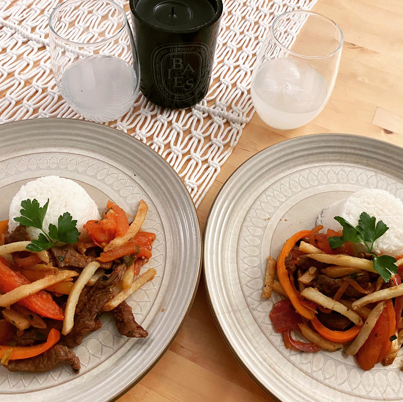 Lomo Saltado (Peruvian Steak Stir-Fry) Emily Yan