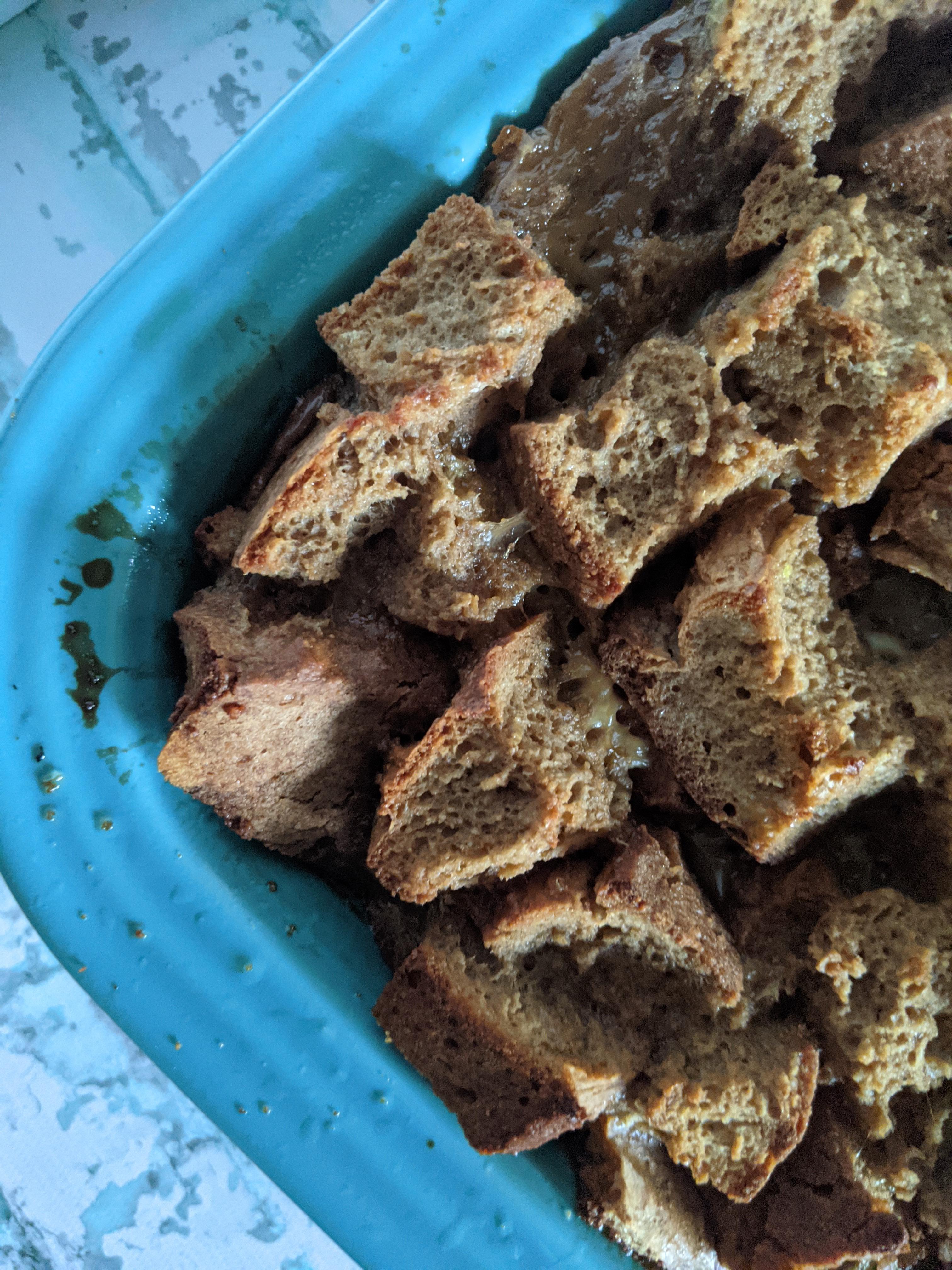 Coffee-Flavored Irish Soda Bread Pudding