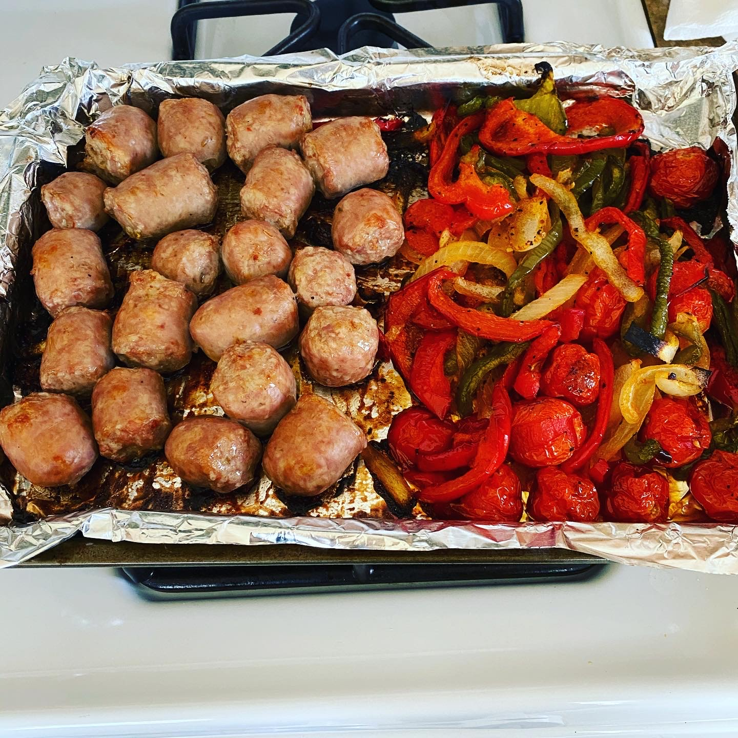 Italian Chicken Sausage and Peppers Swirv