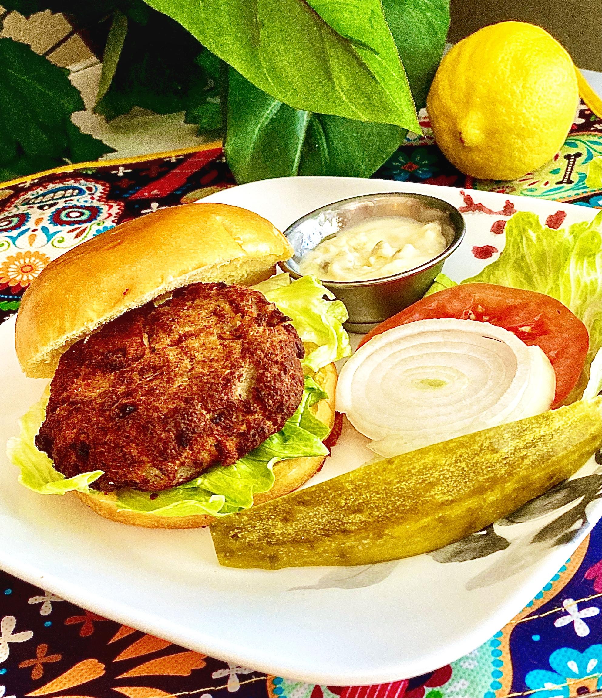 Air Fryer Salmon Burgers