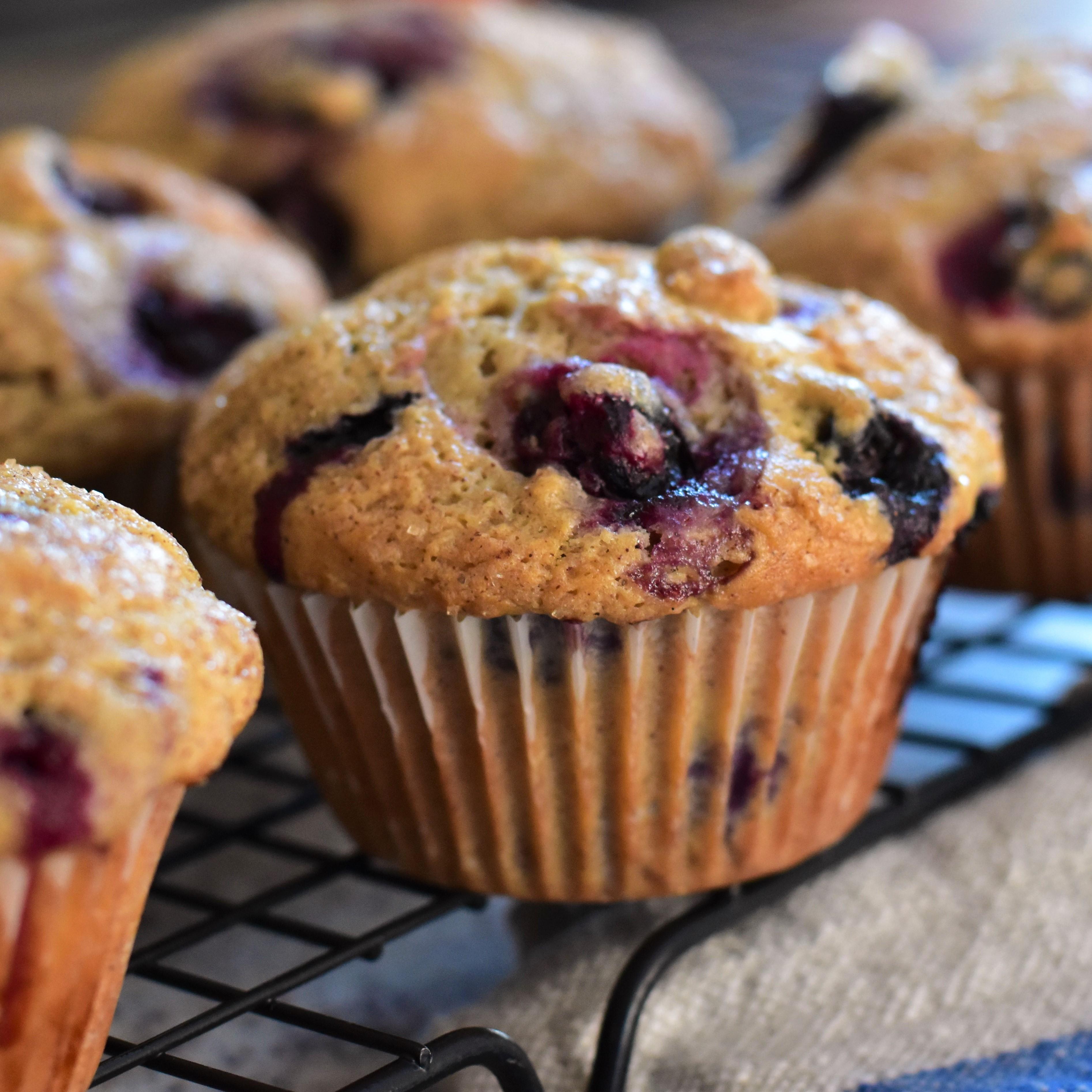Make-Ahead Blueberry-Cinnamon Muffins