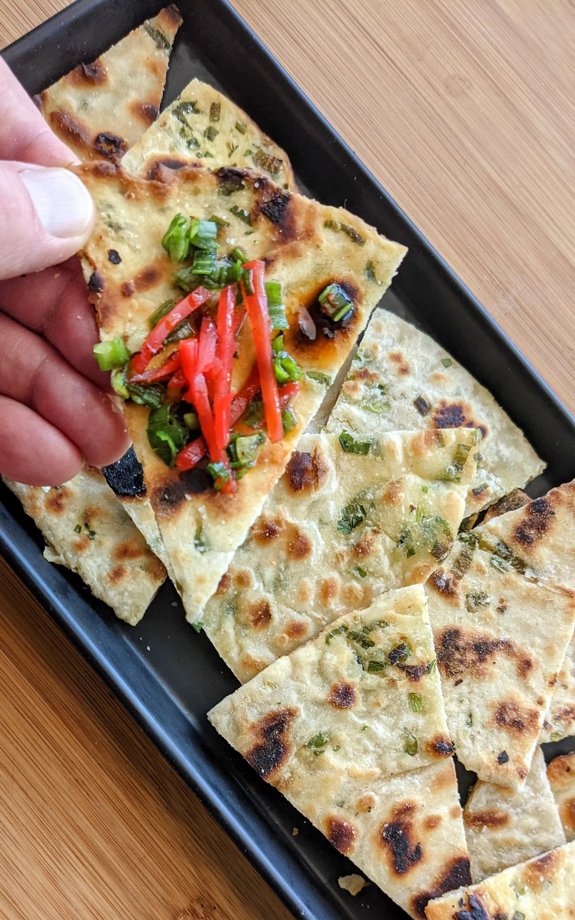Chinese Scallion Pancakes DFKitchentime