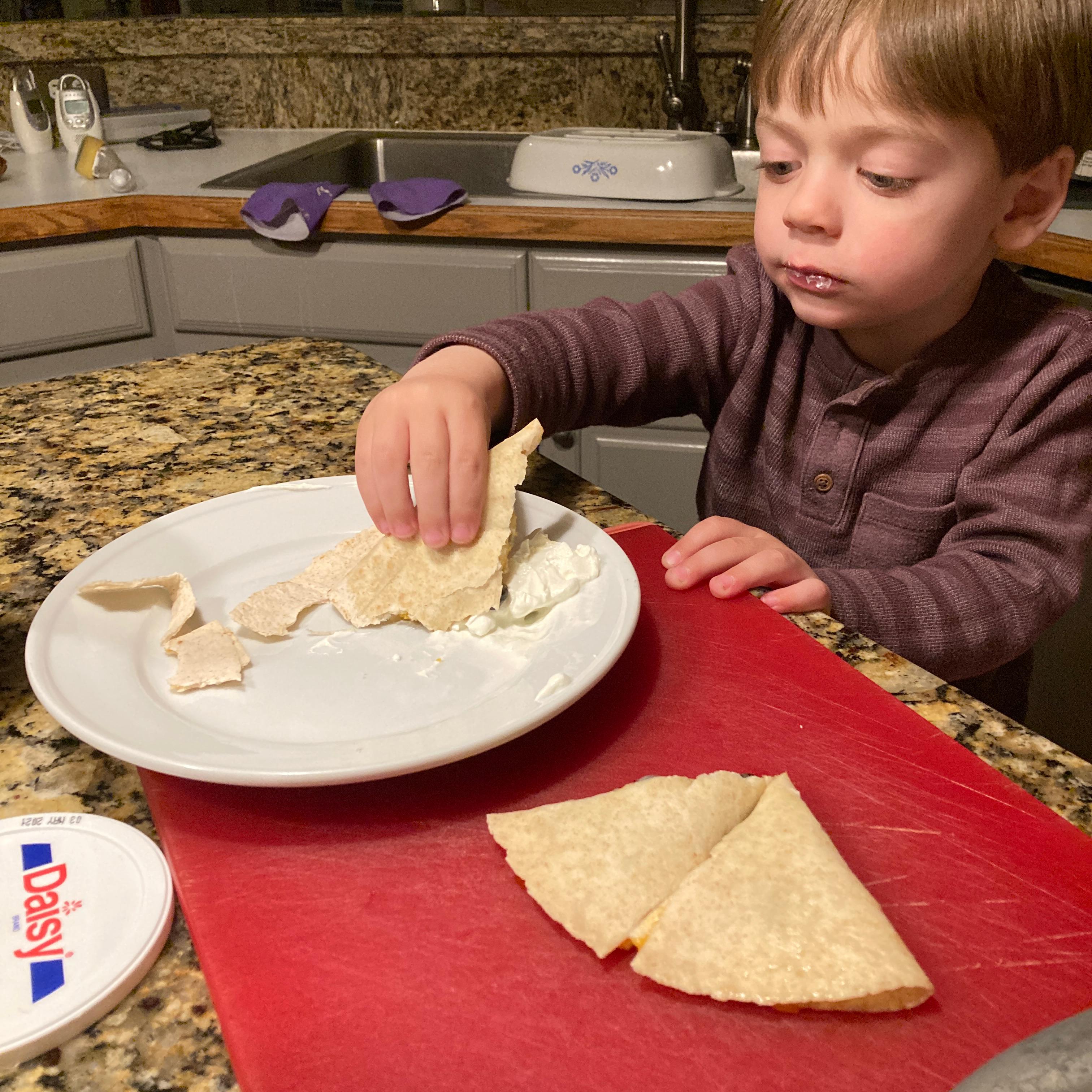 2 Minute Cheese Quesadillas Emery