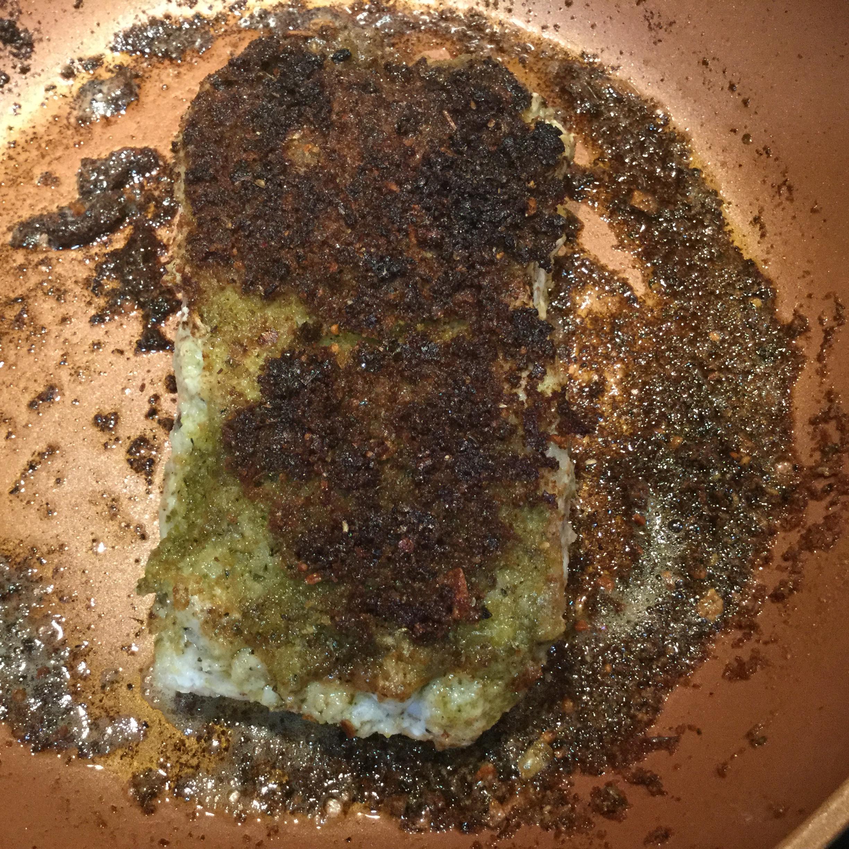 Pesto-Crusted Grouper Mary