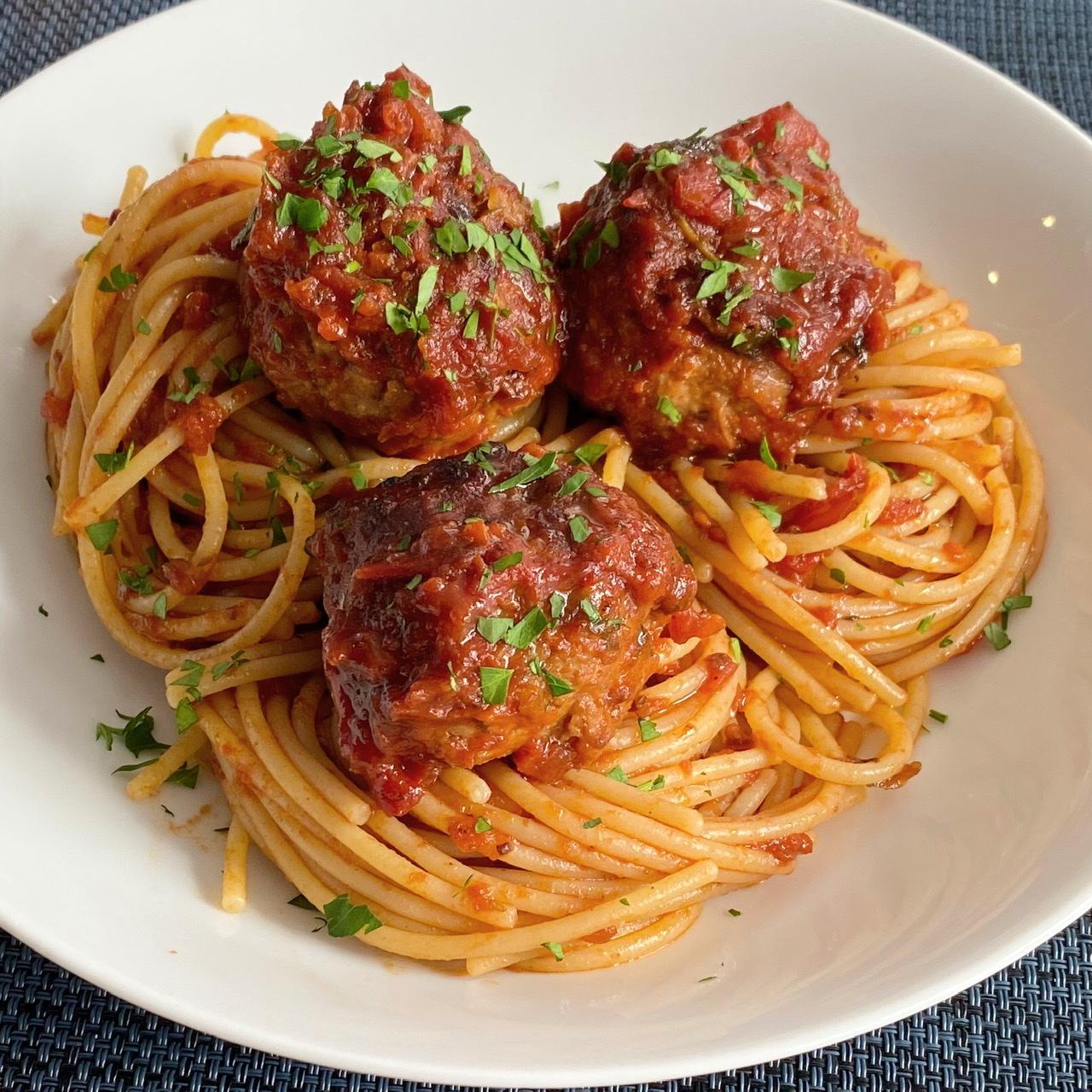 Vegan Spaghetti and (Beyond) Meatballs Buckwheat Queen