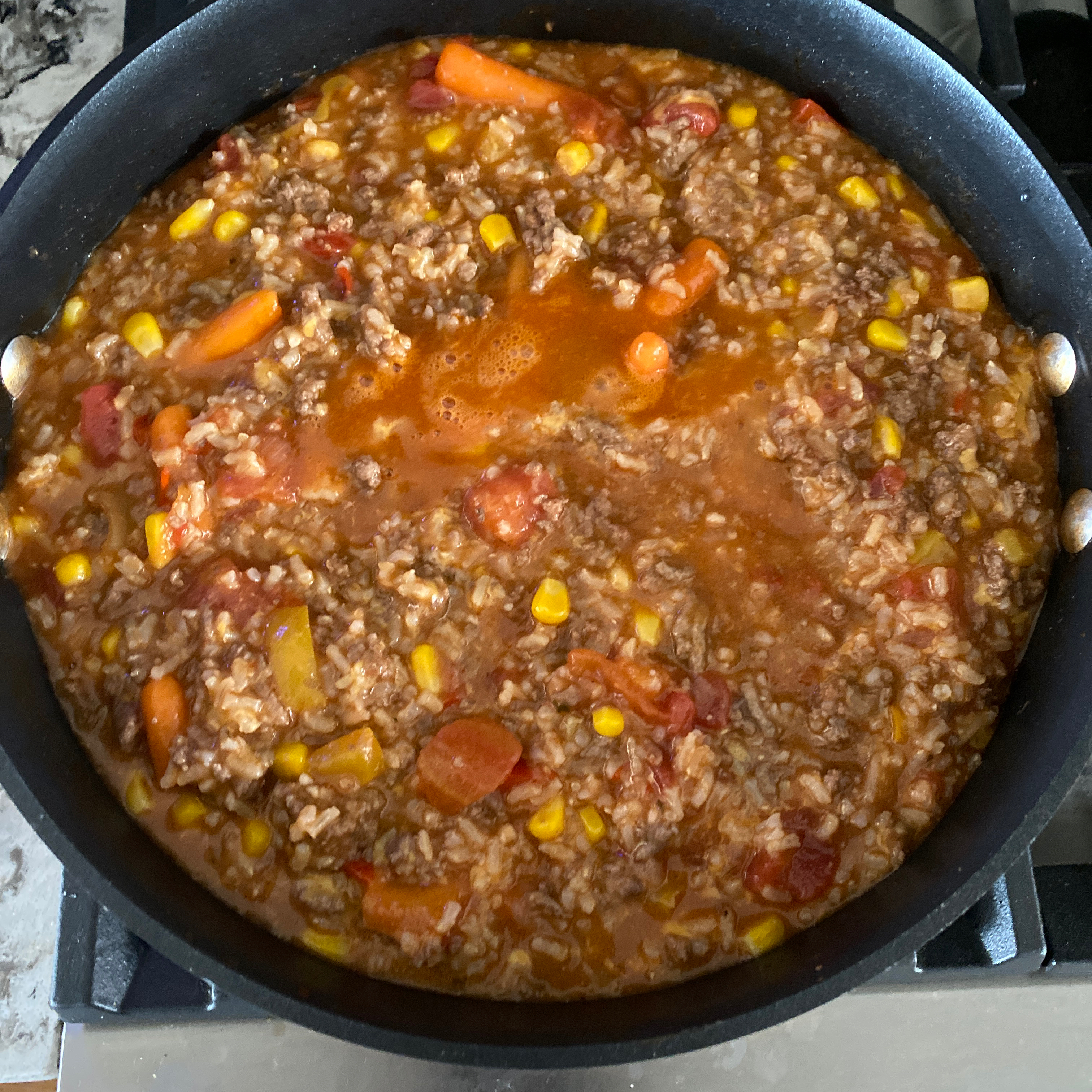 Cheesy Hamburger Stew with Rice sgtremblay