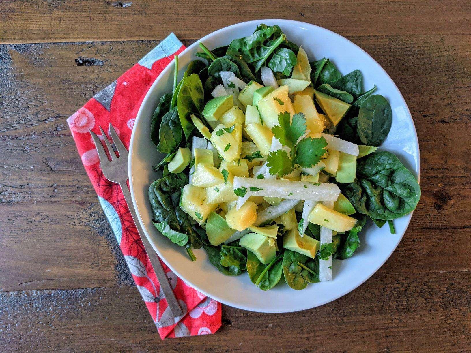Jicama and Pineapple Salad in a Cilantro Vinaigrette