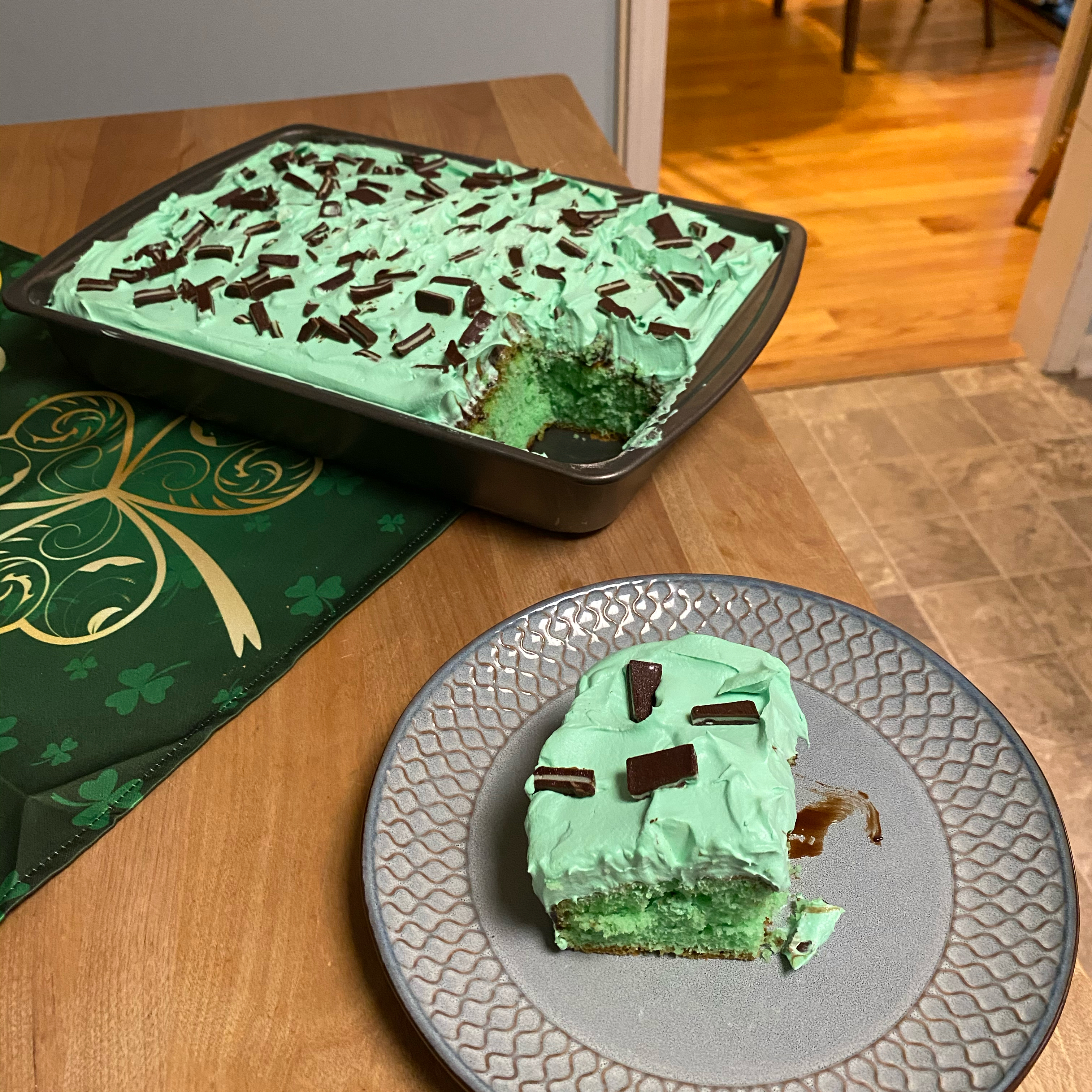 Creme de Menthe Cake I Deborah Bentley
