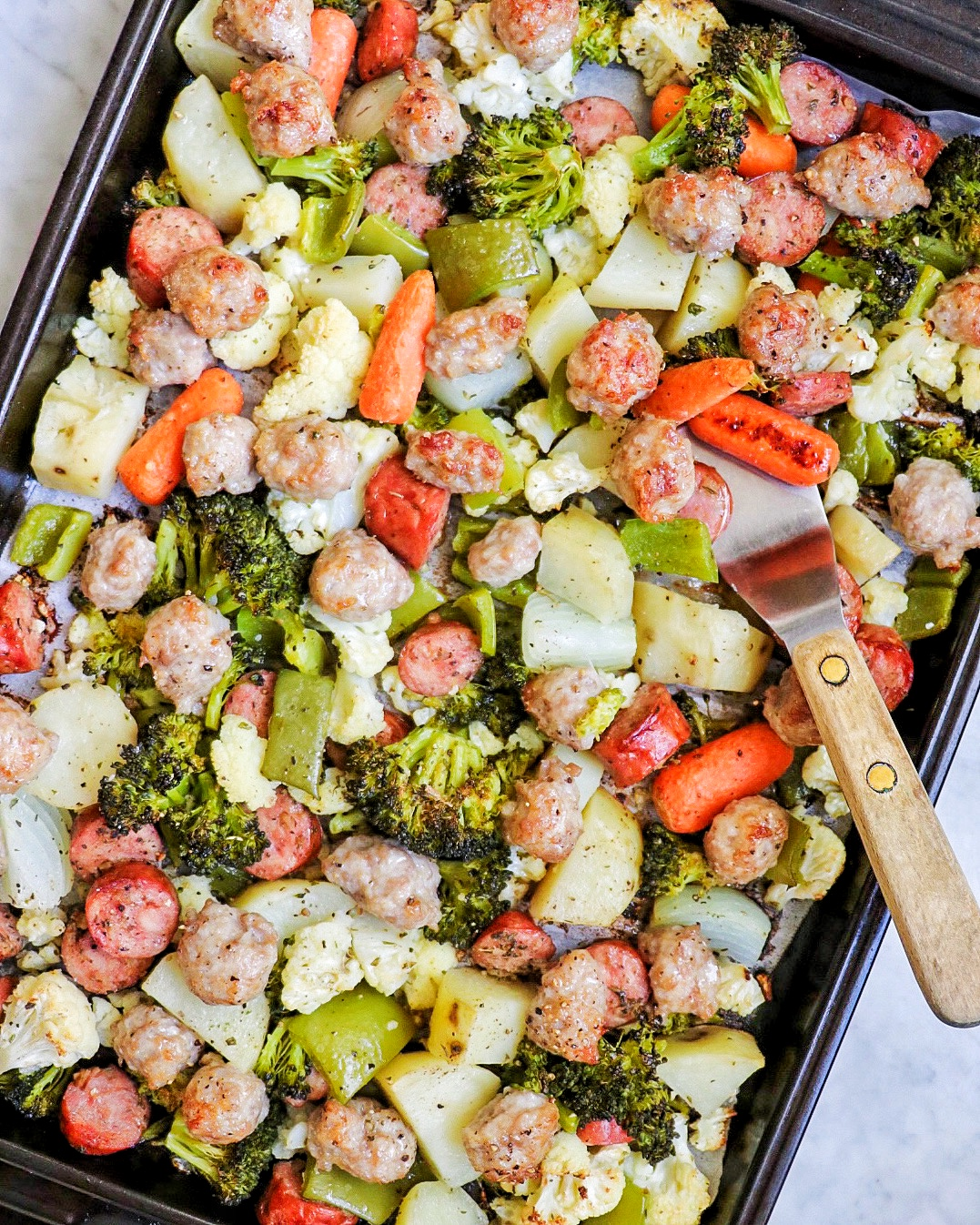 Sheet Pan Dinner with Sausage and Roasted Vegetables
