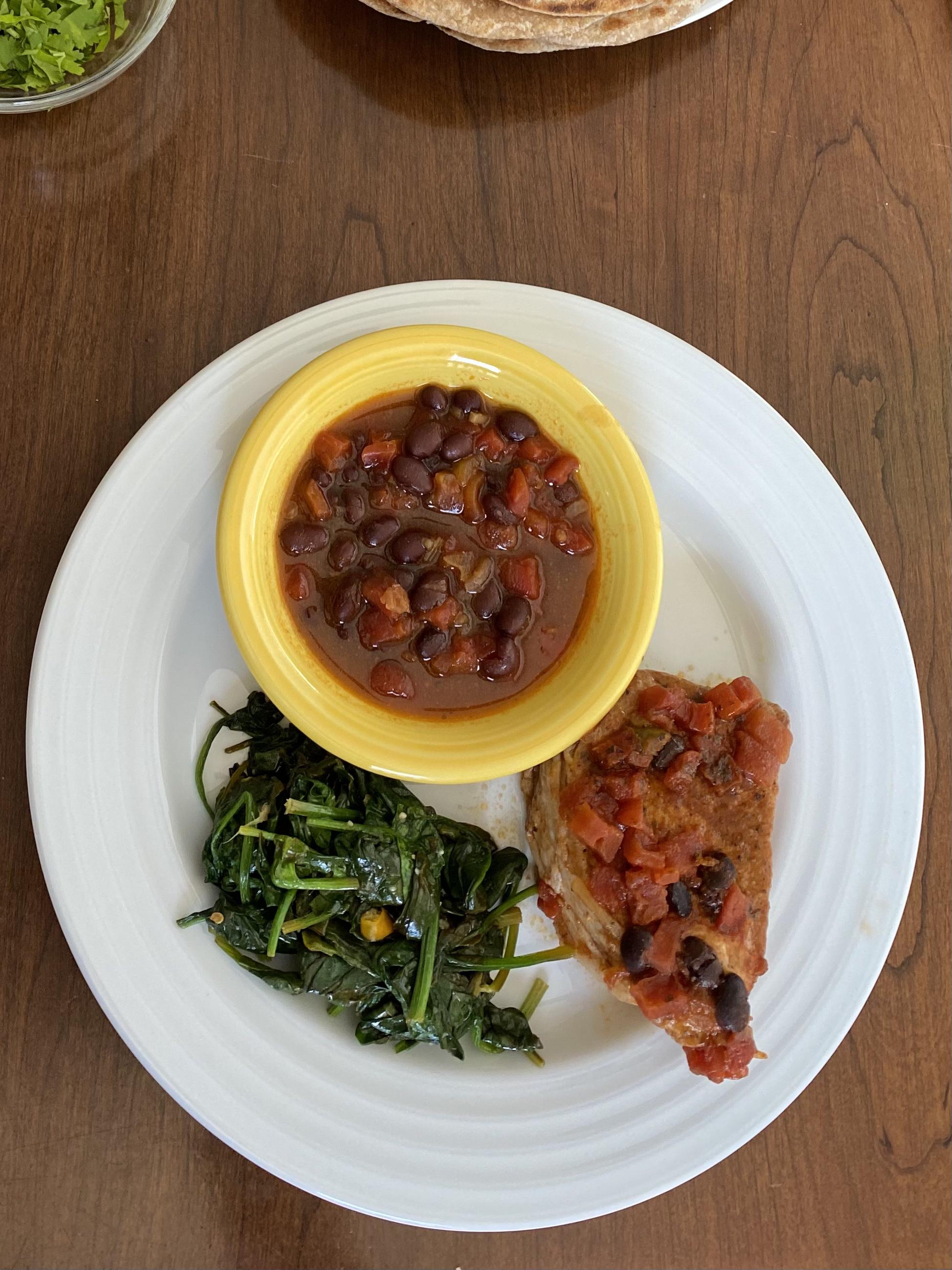Instant Pot® Black Bean Pork Chops amanda gaikwad