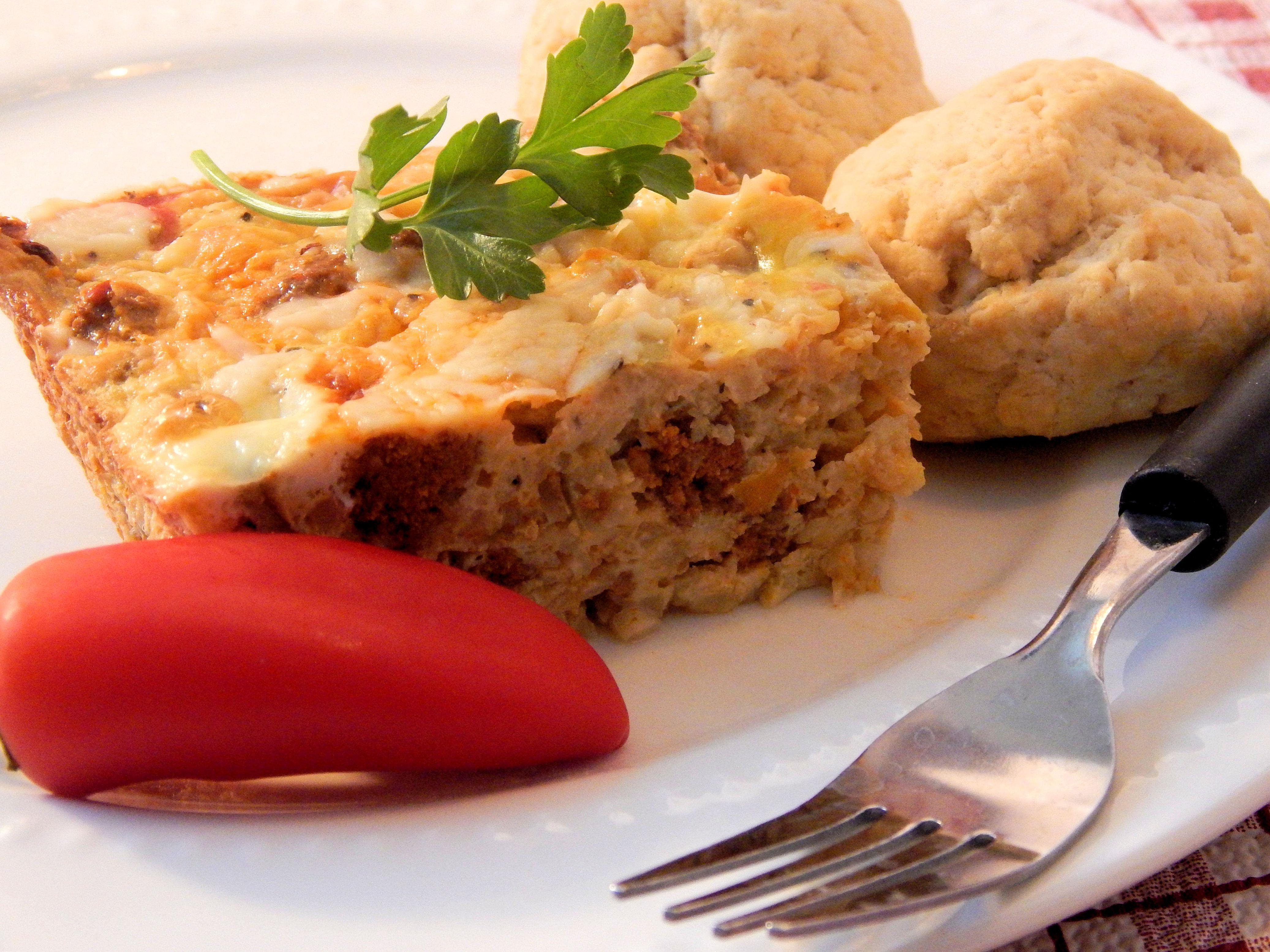 Cauliflower Rice Breakfast Casserole