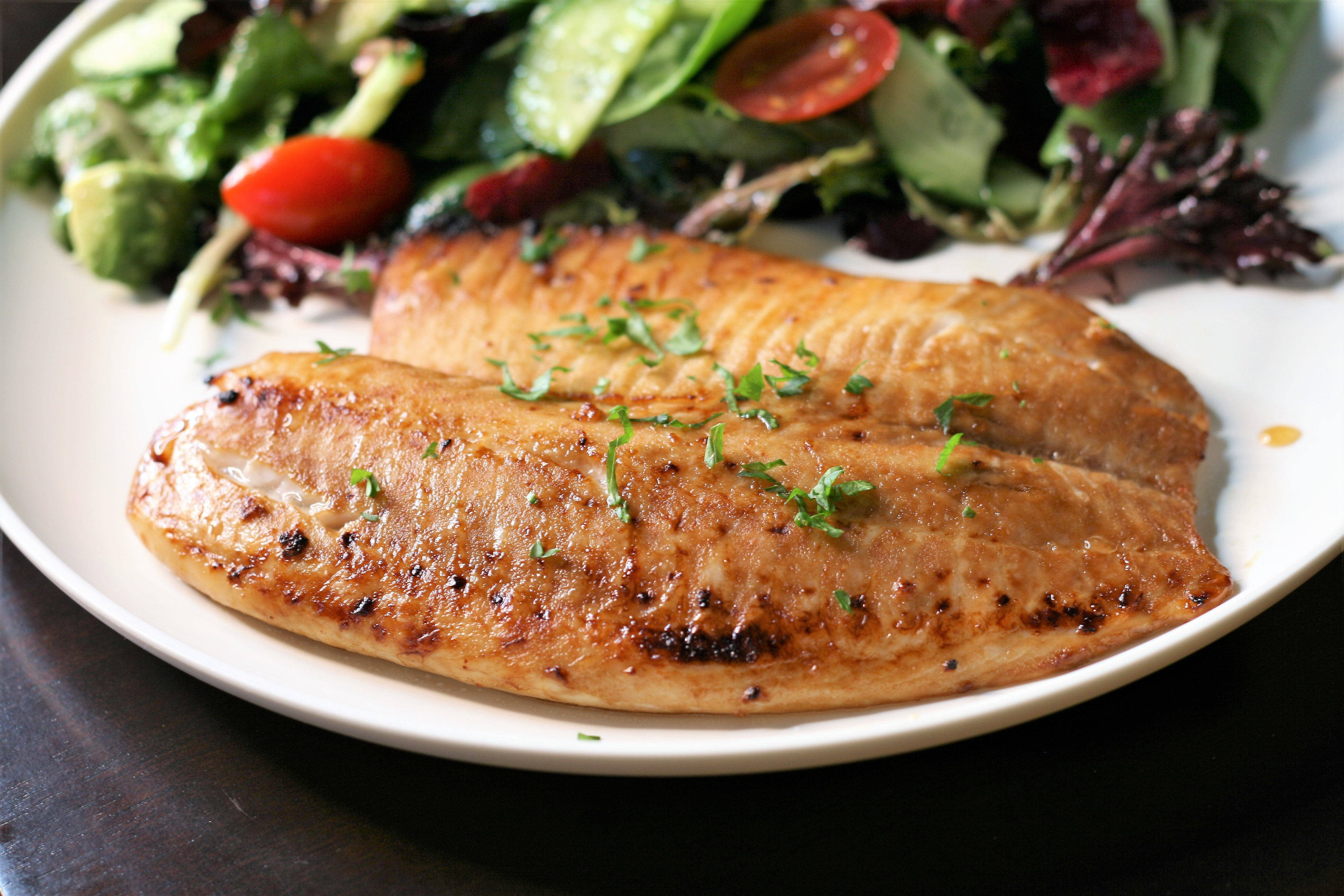Broiled Honey-Soy Tilapia Fillets