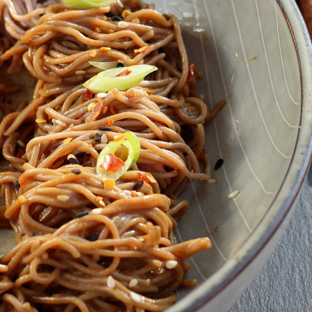 Spicy Cold Soba Noodles
