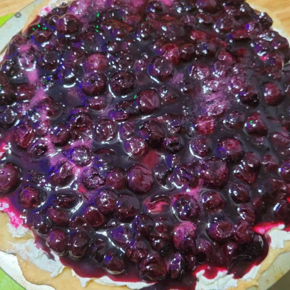 Blueberry and Banana Cream Cheese Pie