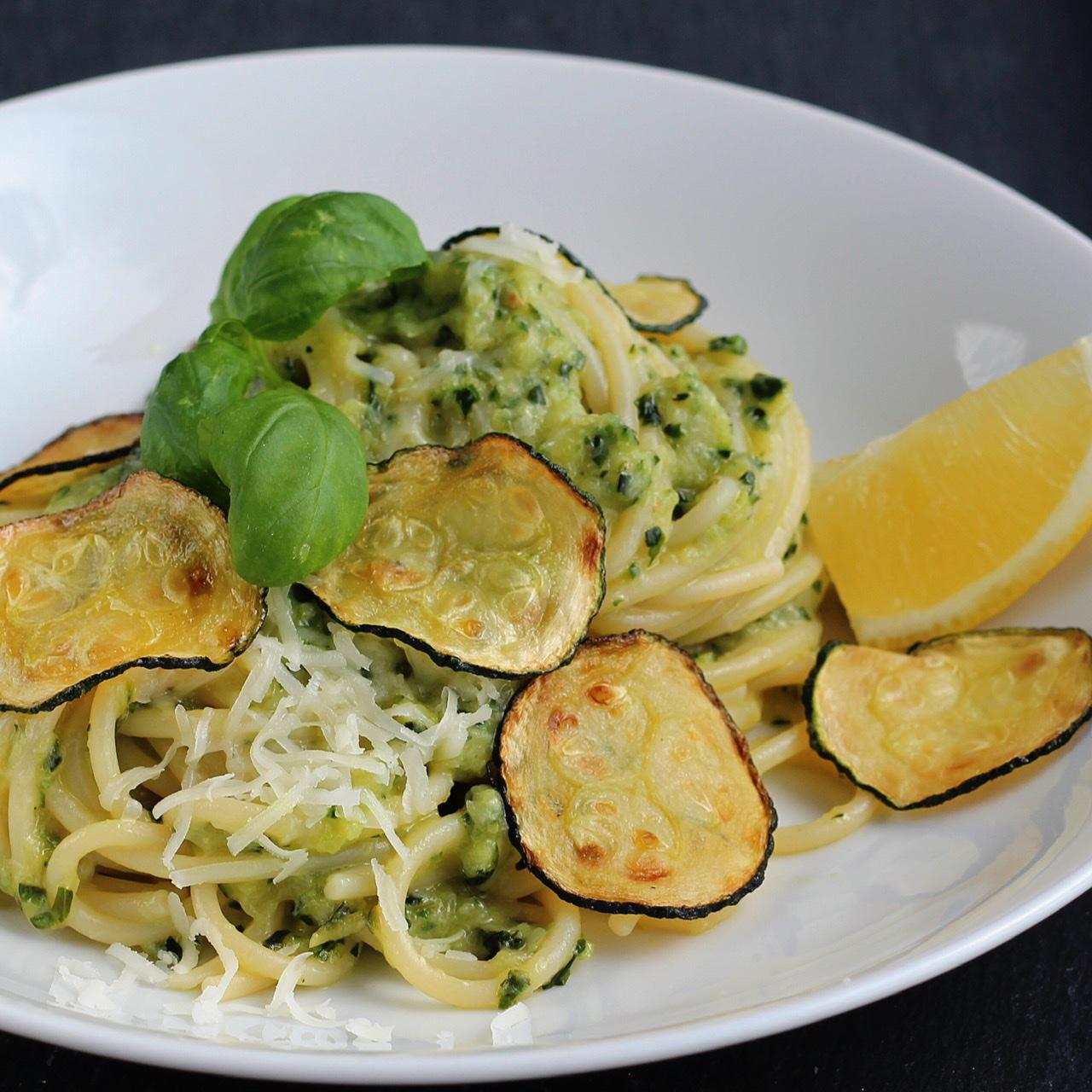 Spaghetti alla Nerano (Spaghetti with Fried Zucchini)
